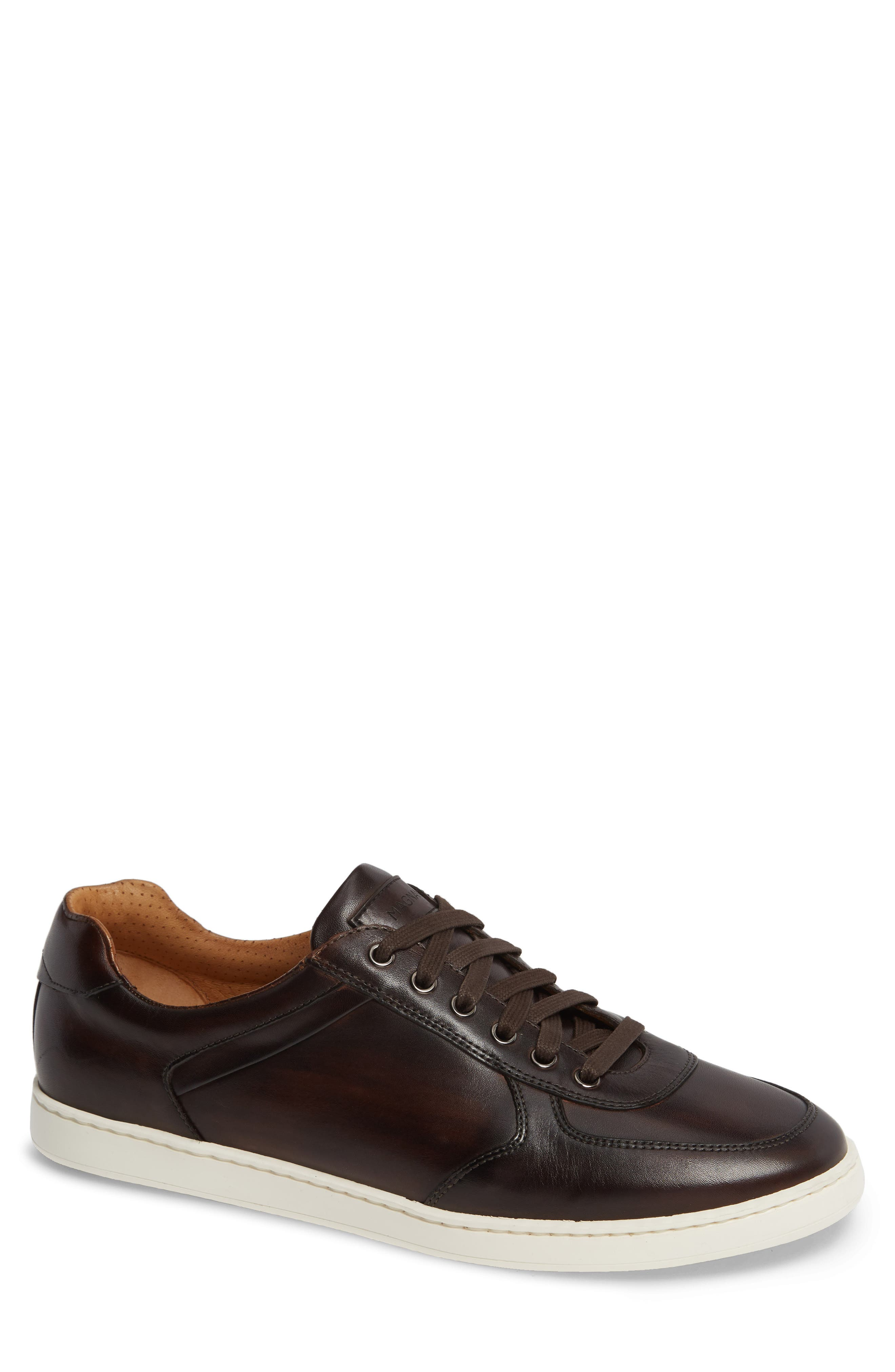 Echo Sneaker,                         Main,                         color, BROWN LEATHER