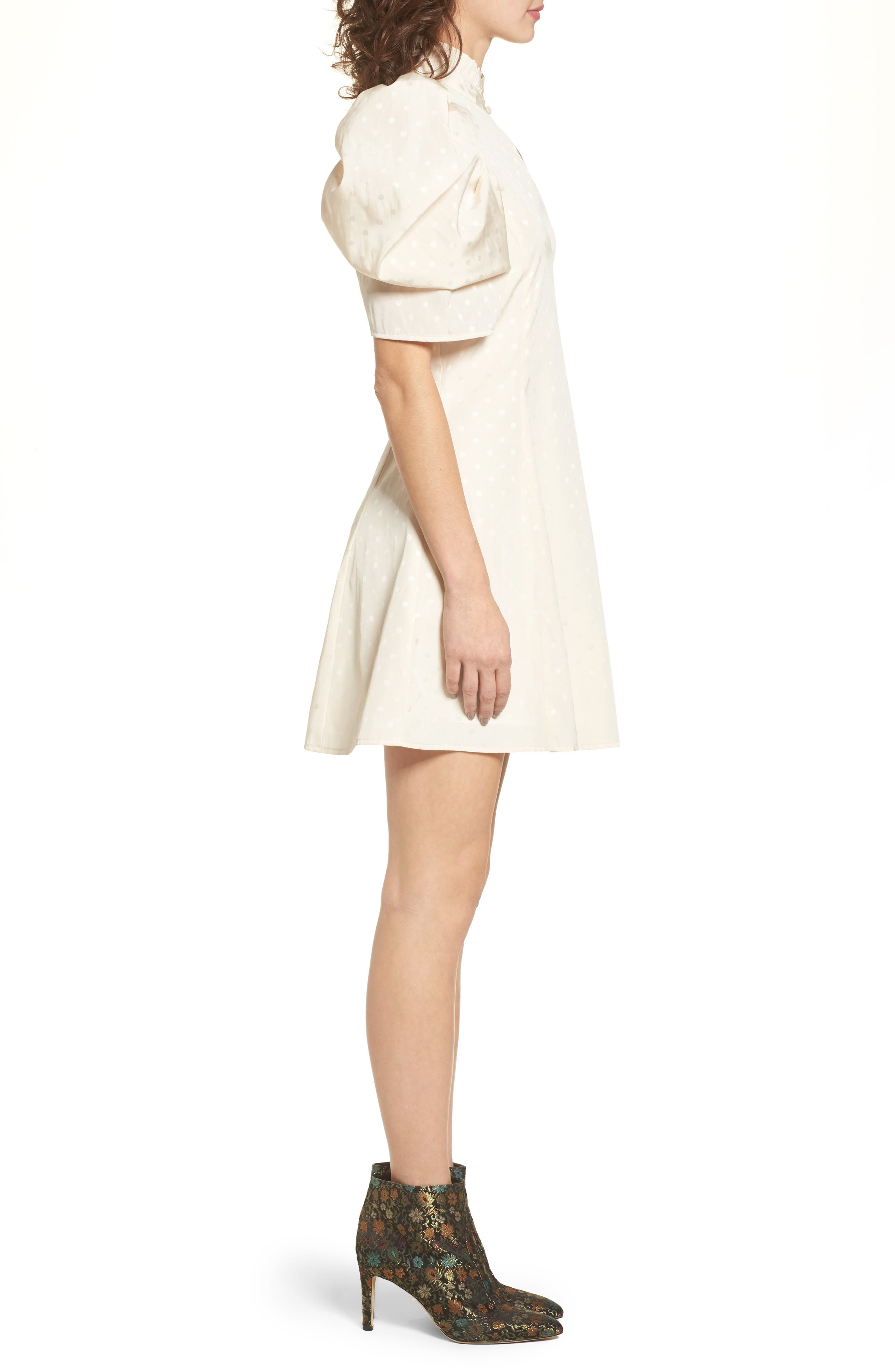 Puff Sleeve Dress,                             Alternate thumbnail 3, color,                             270