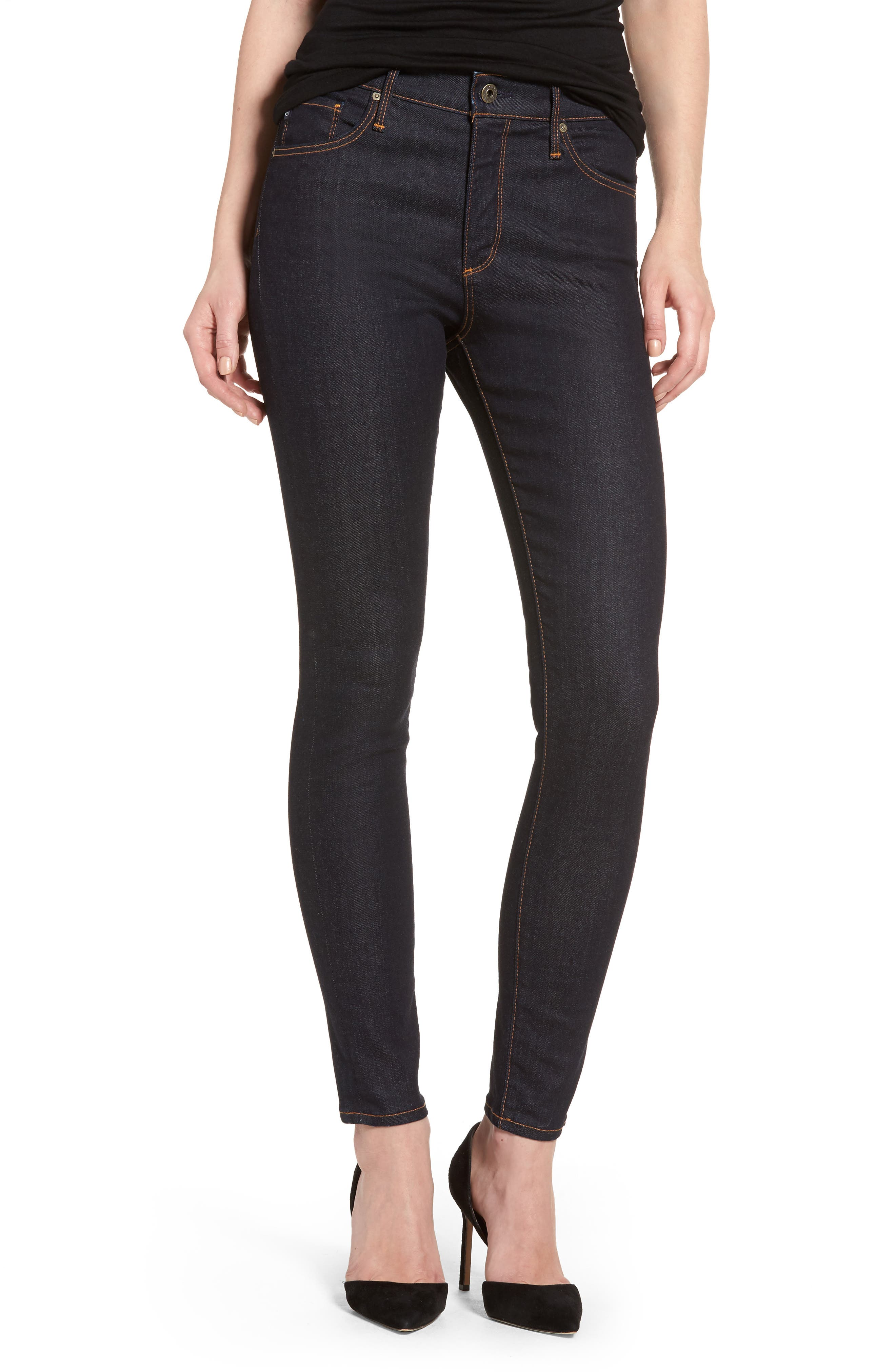 The Farrah Ankle Skinny Jeans,                         Main,                         color, INDIGO SPRING