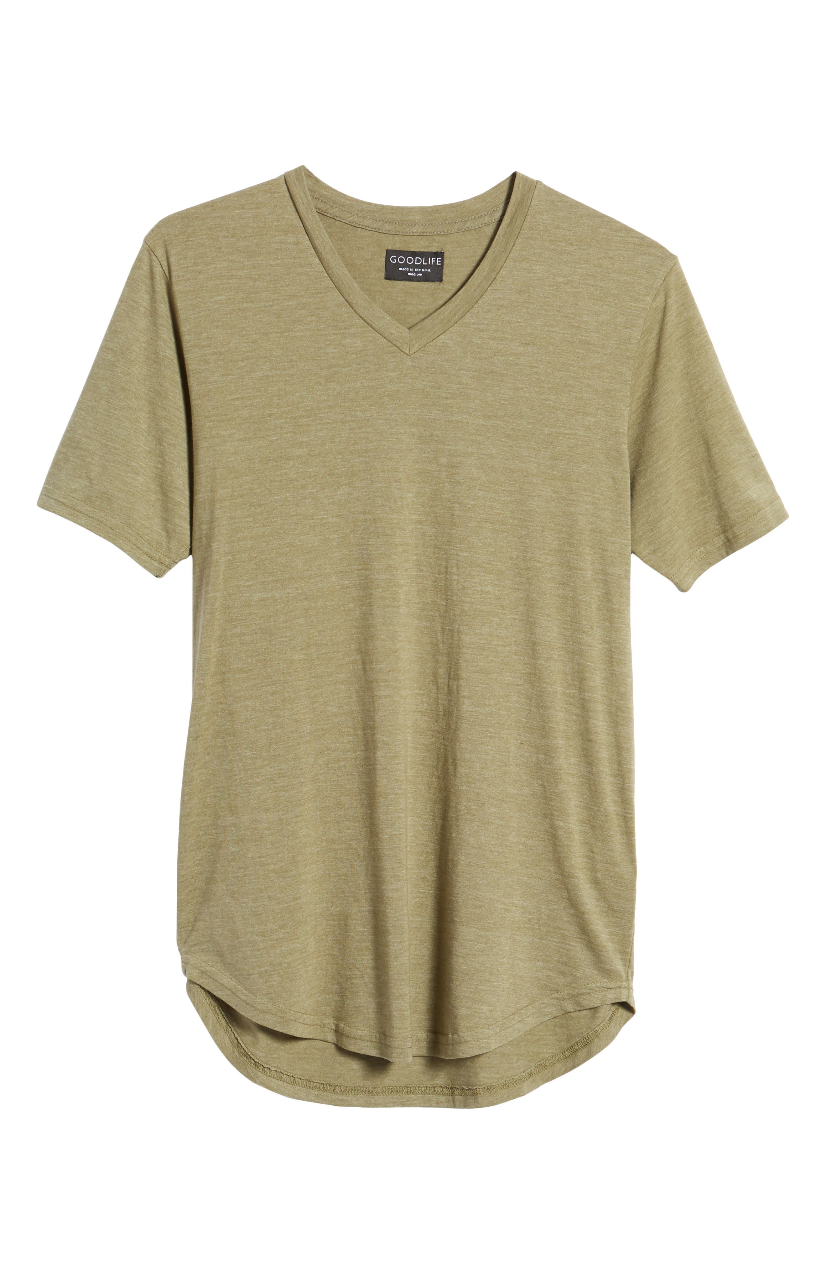 Scallop Triblend V-Neck T-Shirt,                             Alternate thumbnail 118, color,