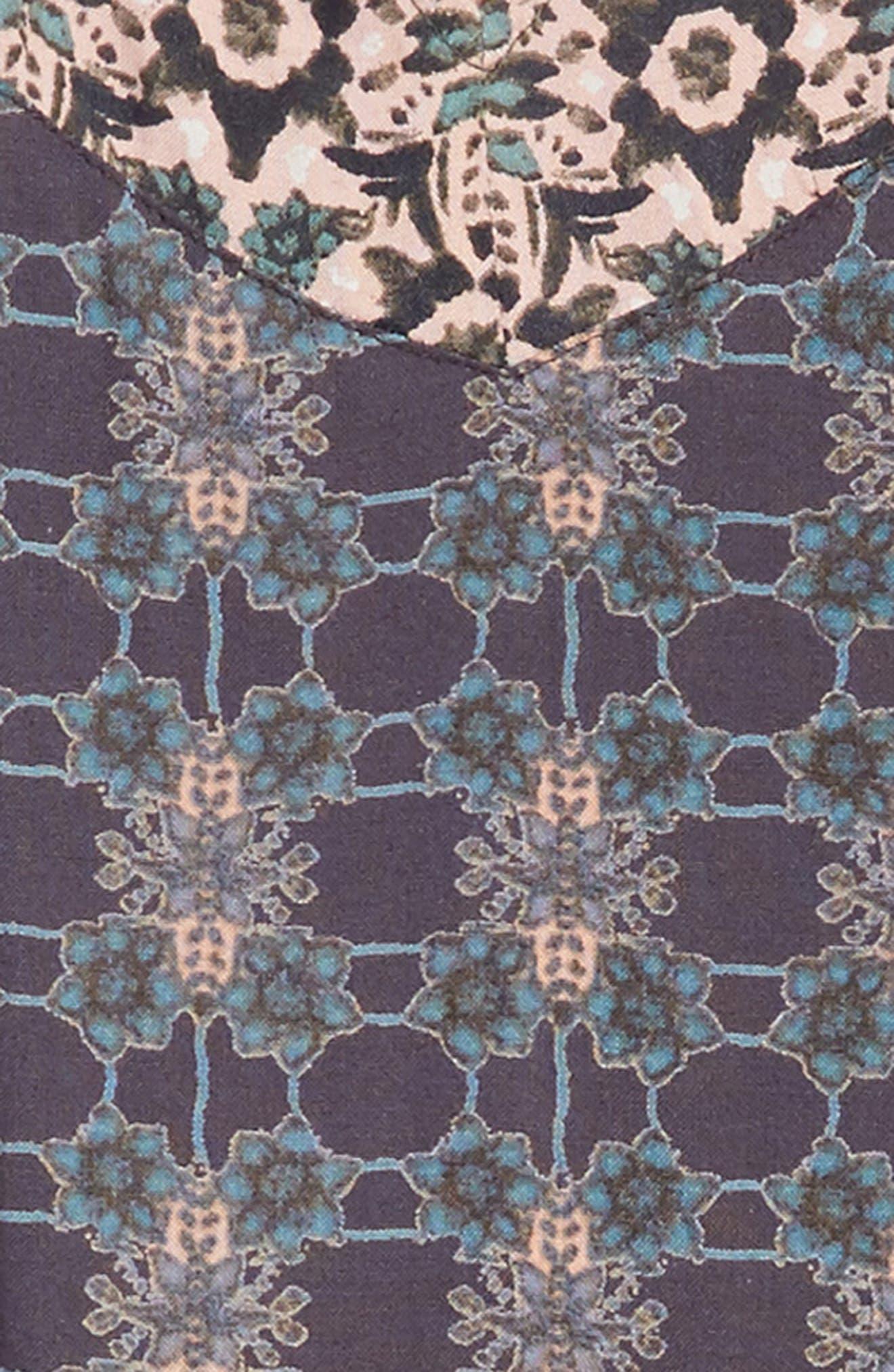 Gina Mixed Print Dress,                             Alternate thumbnail 3, color,                             021