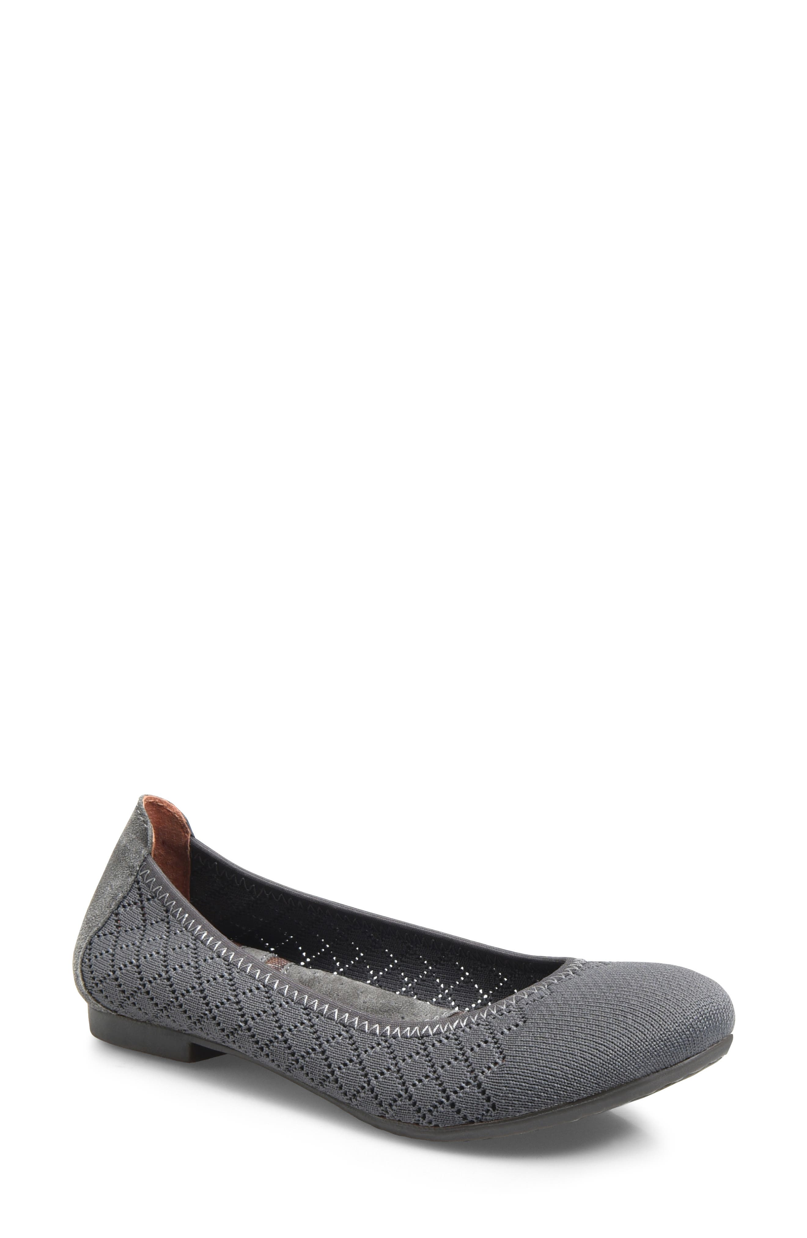 Julianne Knit Flat,                         Main,                         color, GREY KNIT FABRIC