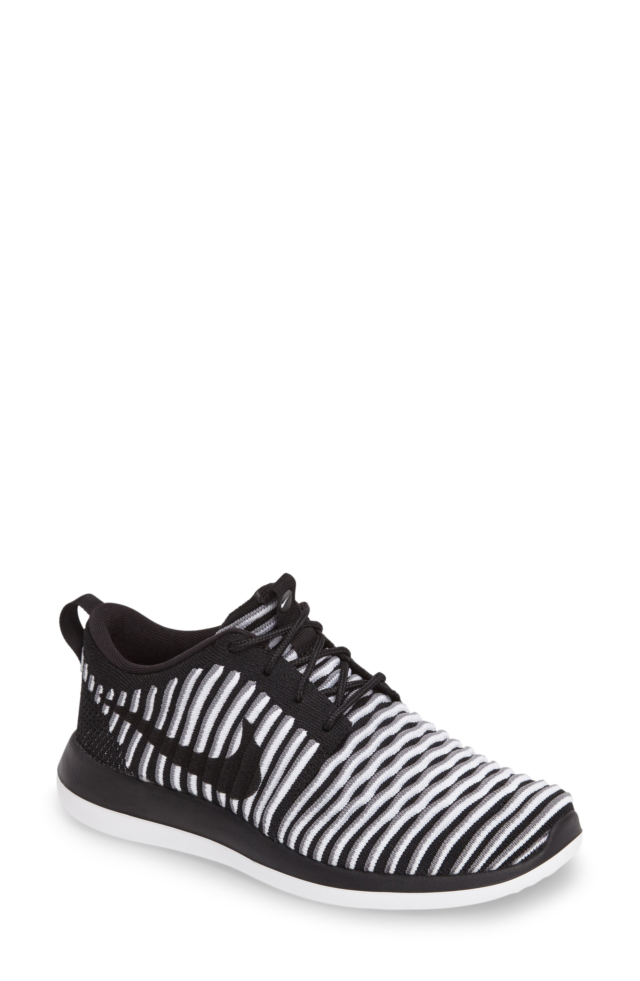 Roshe Two FlyKnit Sneaker, Main, color, 001