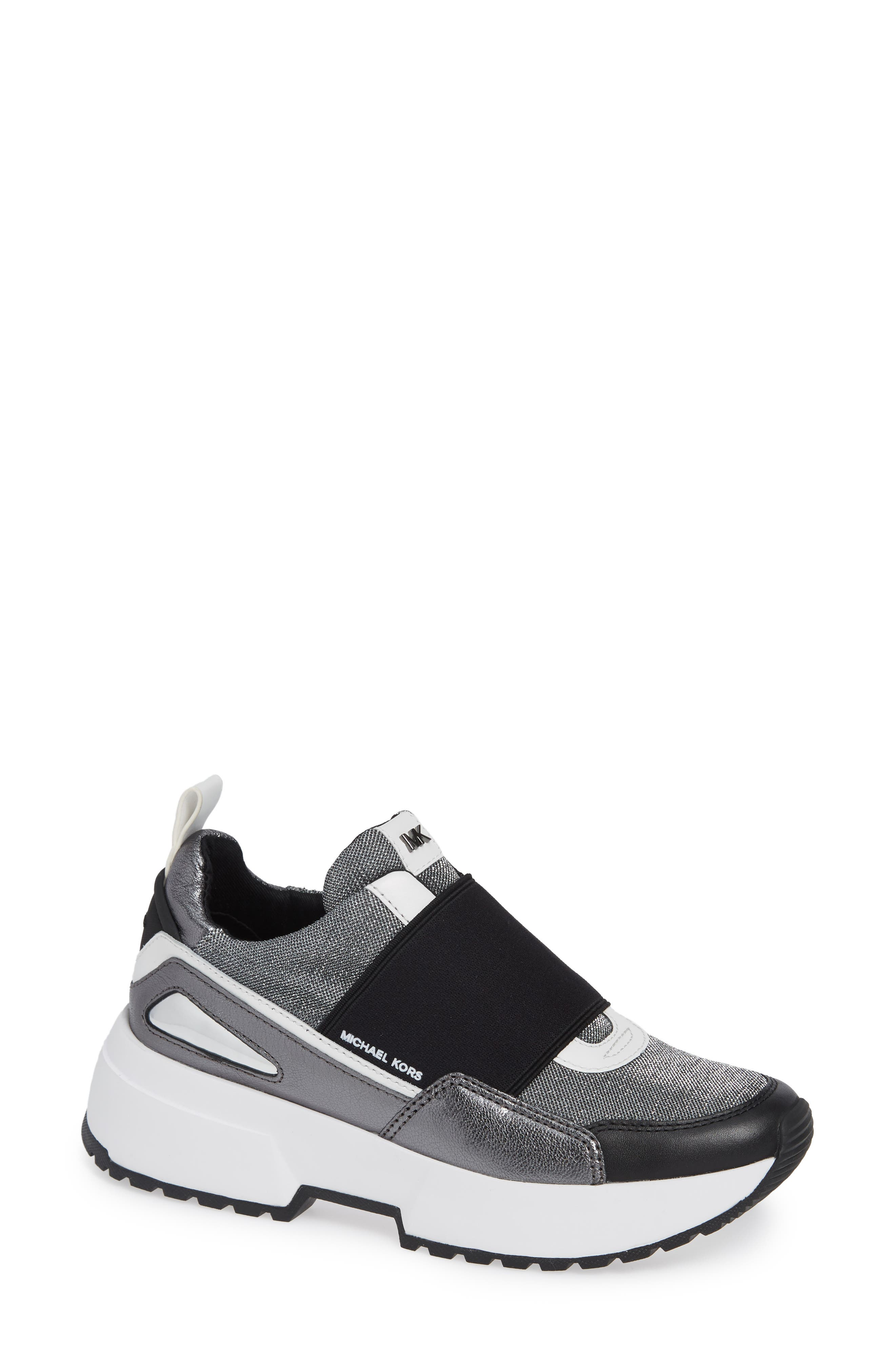 Cosmo Sneaker in Silver Metallic Multi