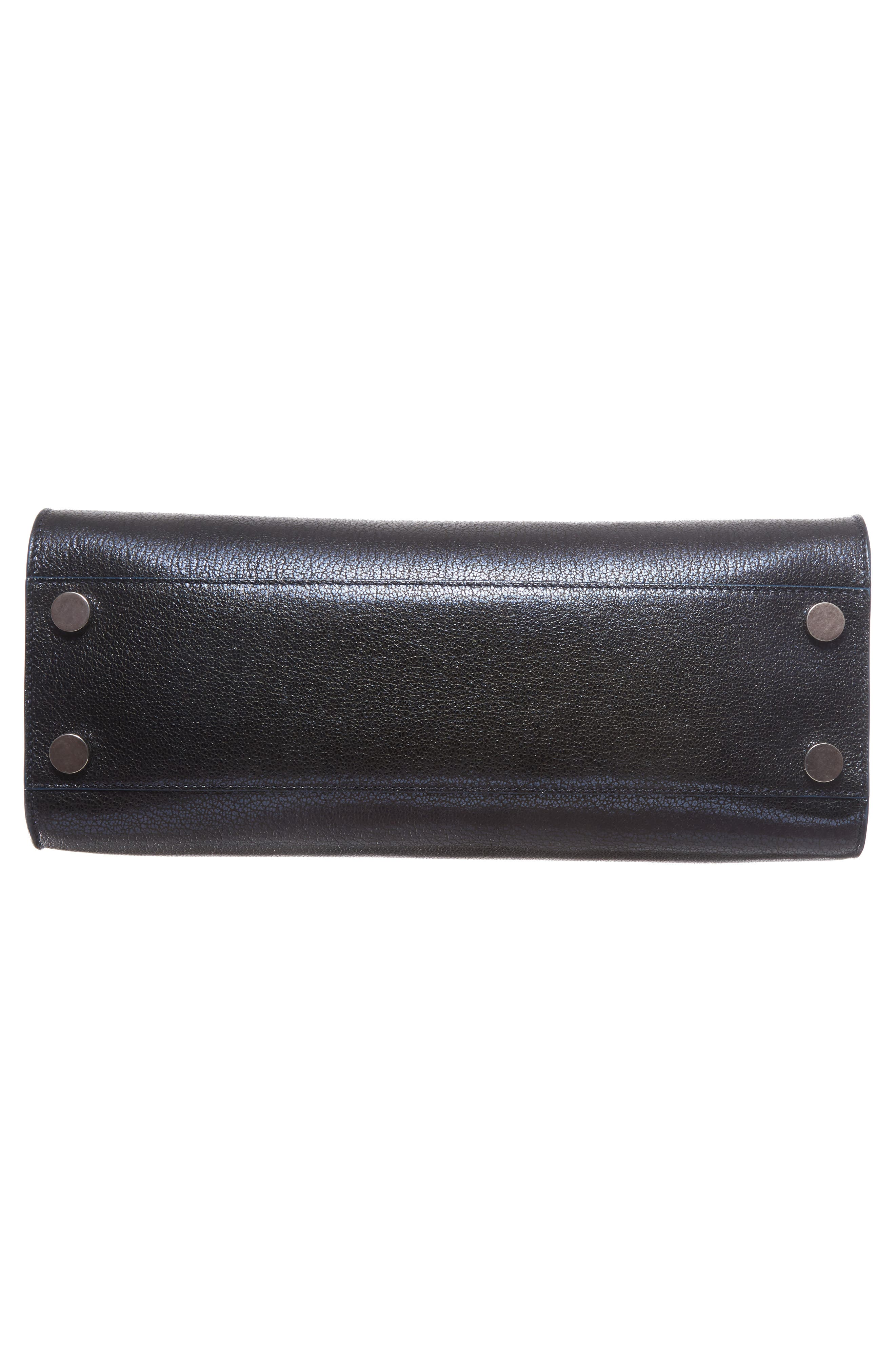 Medium Riley Metallic Leather Tote,                             Alternate thumbnail 6, color,                             400