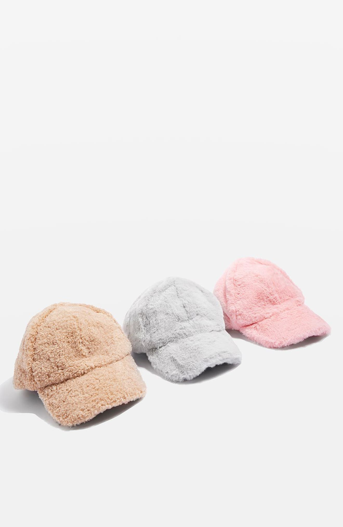 Faux Fur Baseball Cap,                             Alternate thumbnail 4, color,                             020