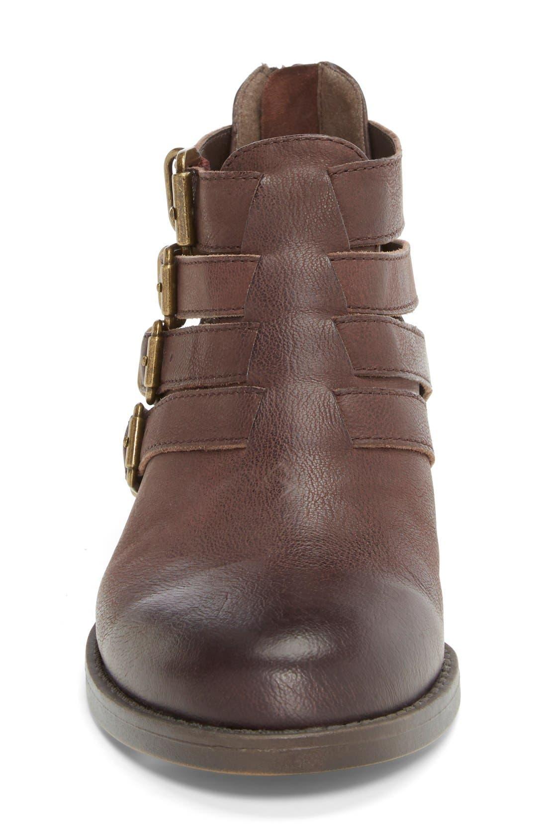 'Ronan' Buckle Leather Bootie,                             Alternate thumbnail 22, color,