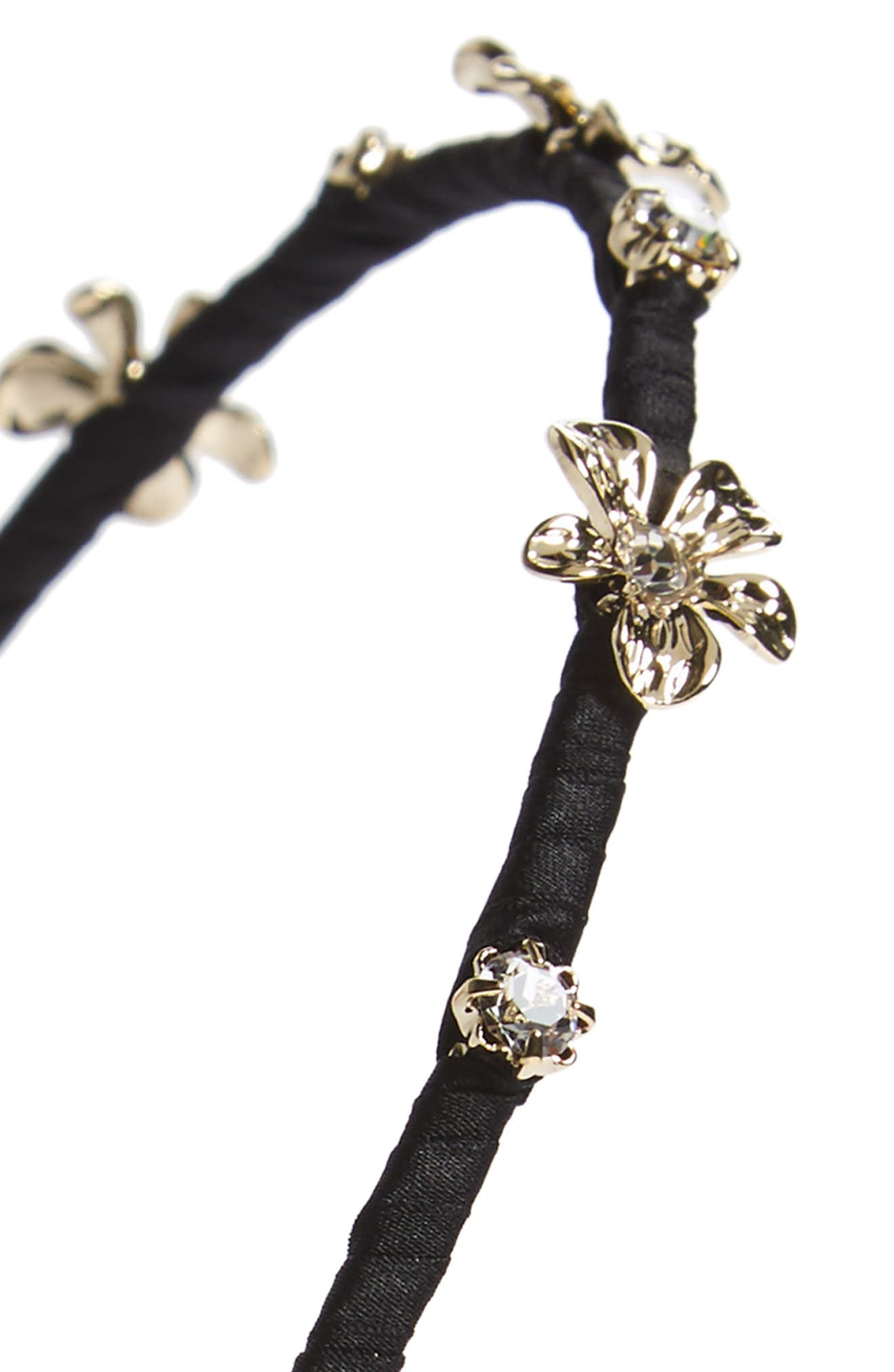 Crystal Daisy Headband,                             Alternate thumbnail 2, color,                             001