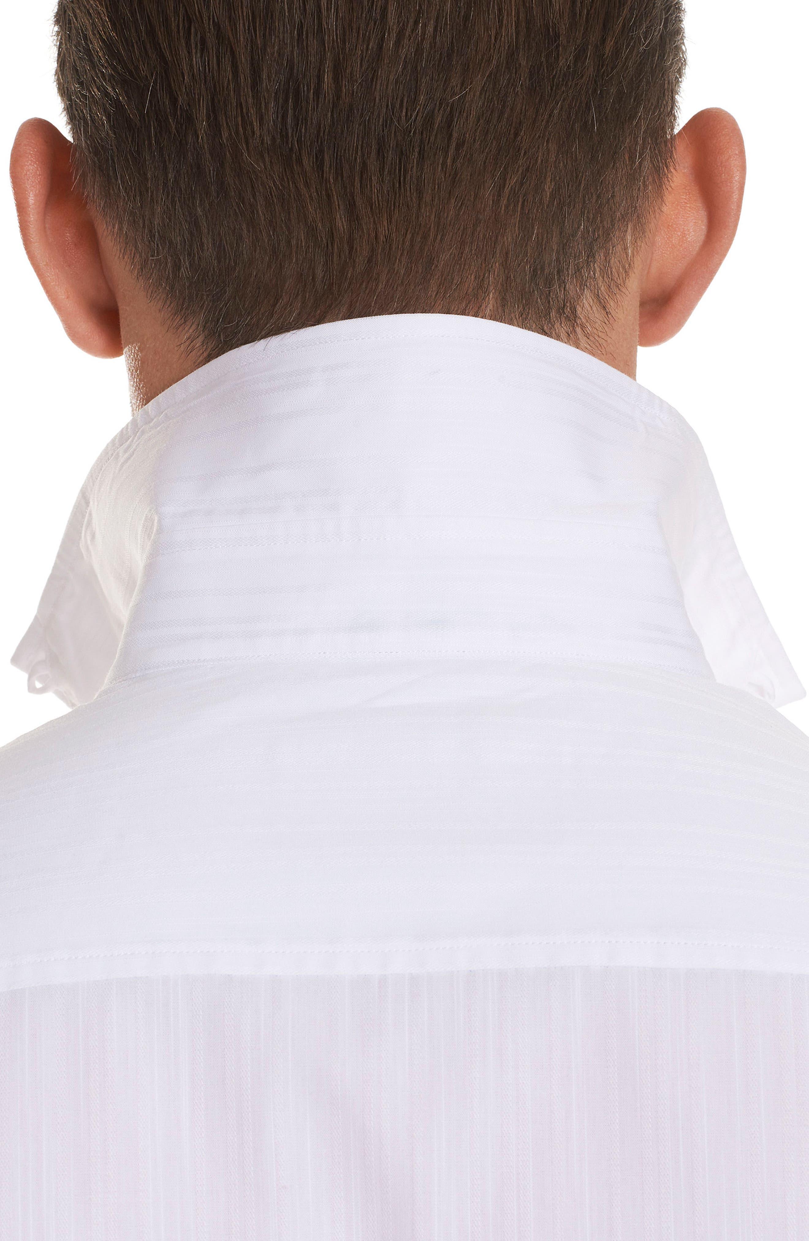 Livingston Regular Fit Short Sleeve Sport Shirt,                             Alternate thumbnail 4, color,                             100