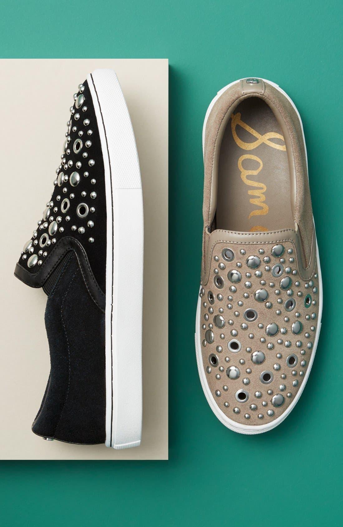 Paven Embellished Slip-On Sneaker,                             Alternate thumbnail 5, color,                             001