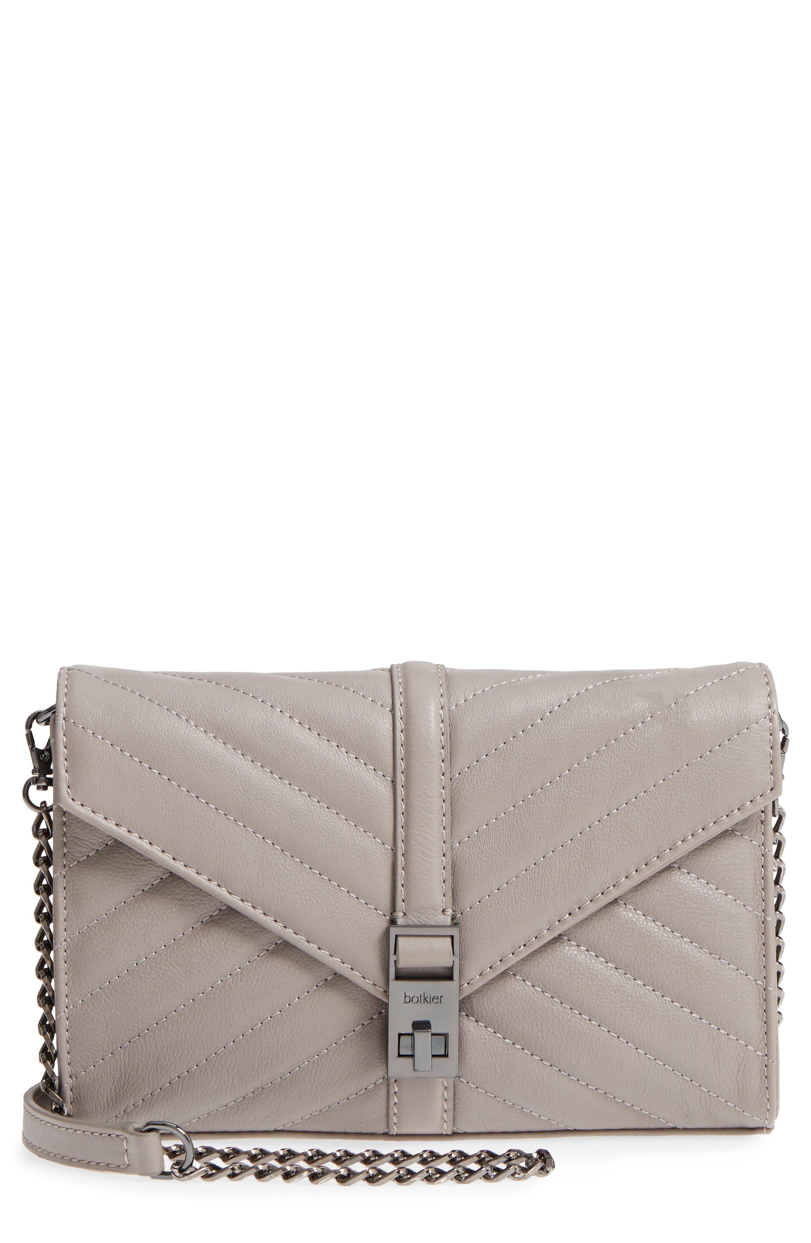 Dakota Quilted Leather Clutch,                         Main,                         color, 020