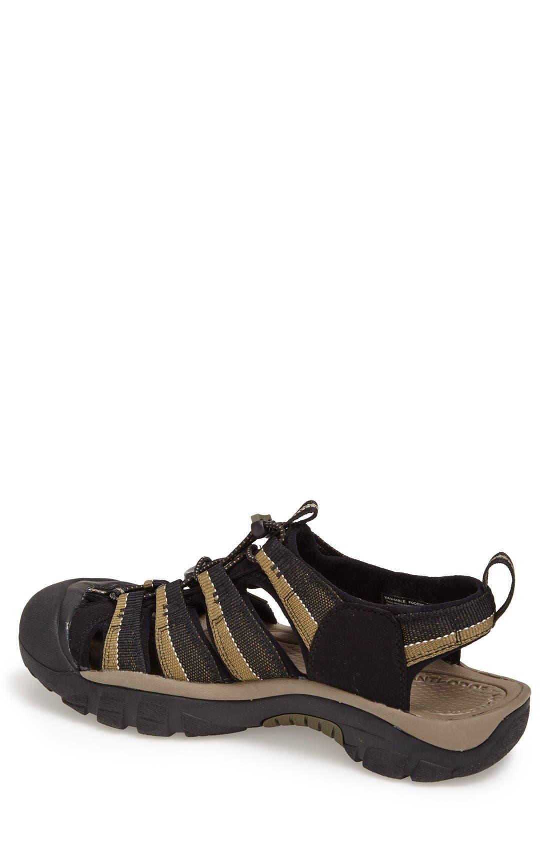 'Newport H2' Sandal,                             Alternate thumbnail 4, color,                             BLACK/ STONE GREY