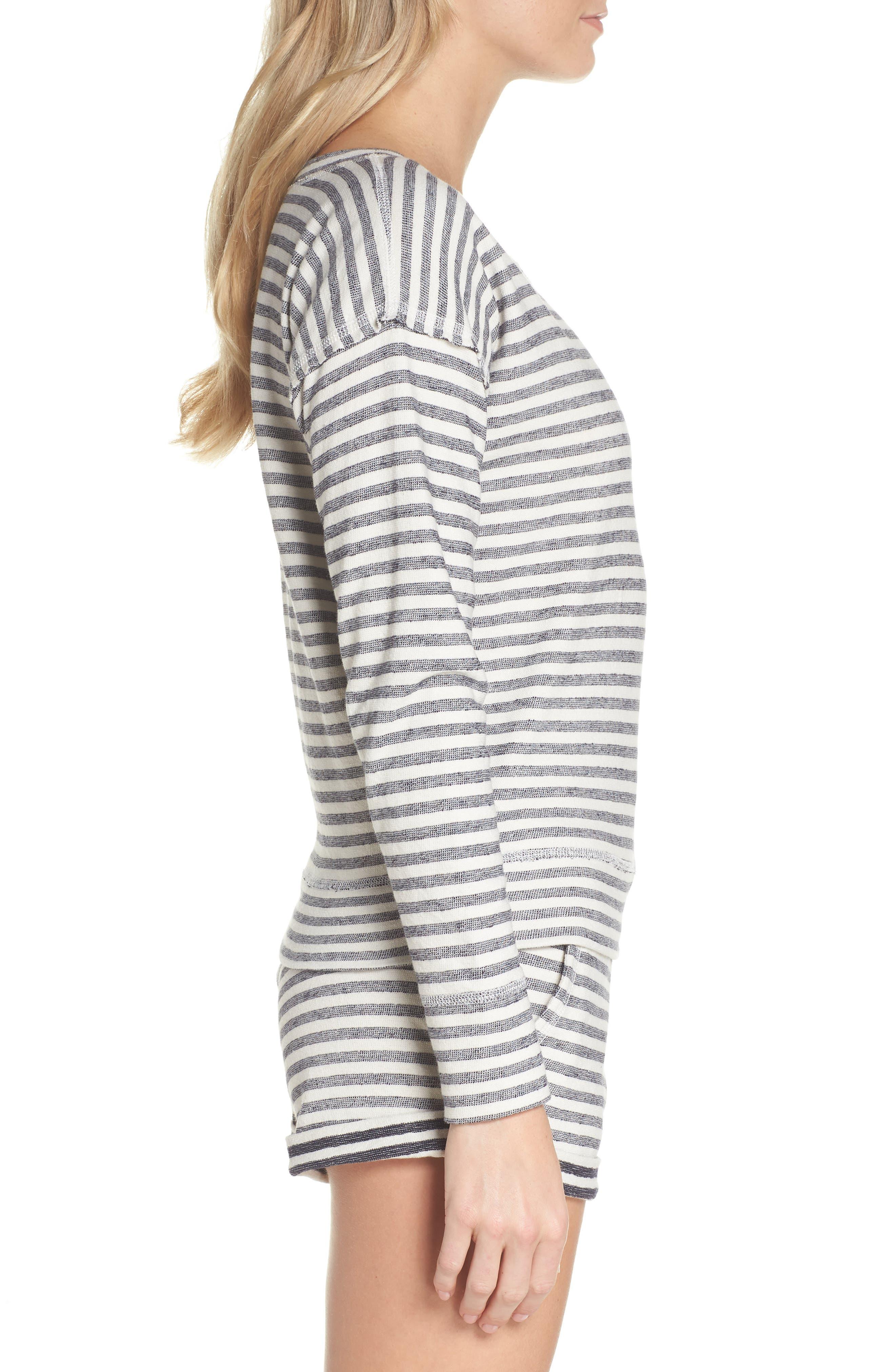 Charlie Stripe Sweatshirt,                             Alternate thumbnail 3, color,                             400