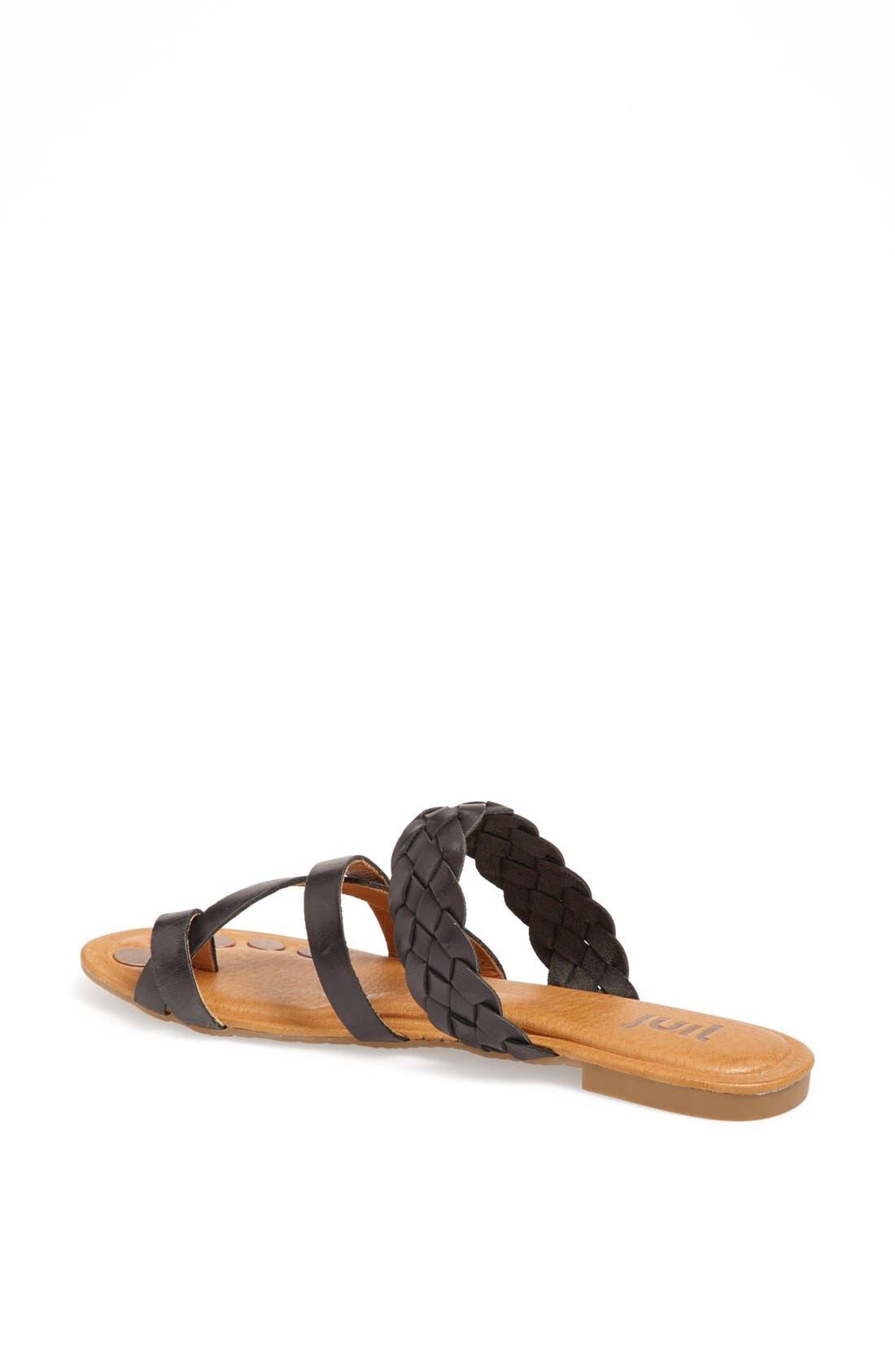 'Santi' Leather Sandal,                             Alternate thumbnail 4, color,                             010