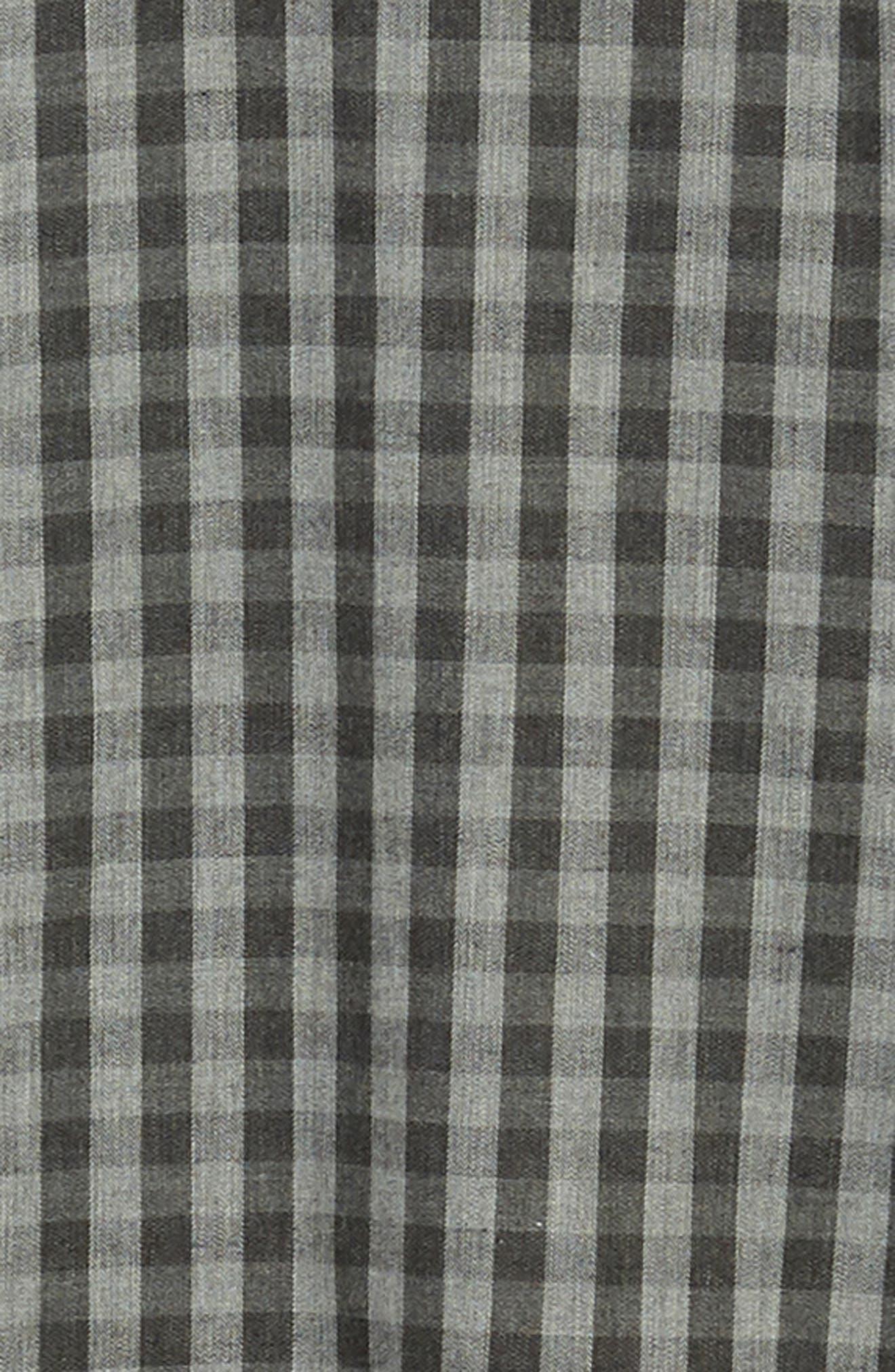 Lieberman Regular Fit Check Sport Shirt,                             Alternate thumbnail 6, color,                             CHARCOAL