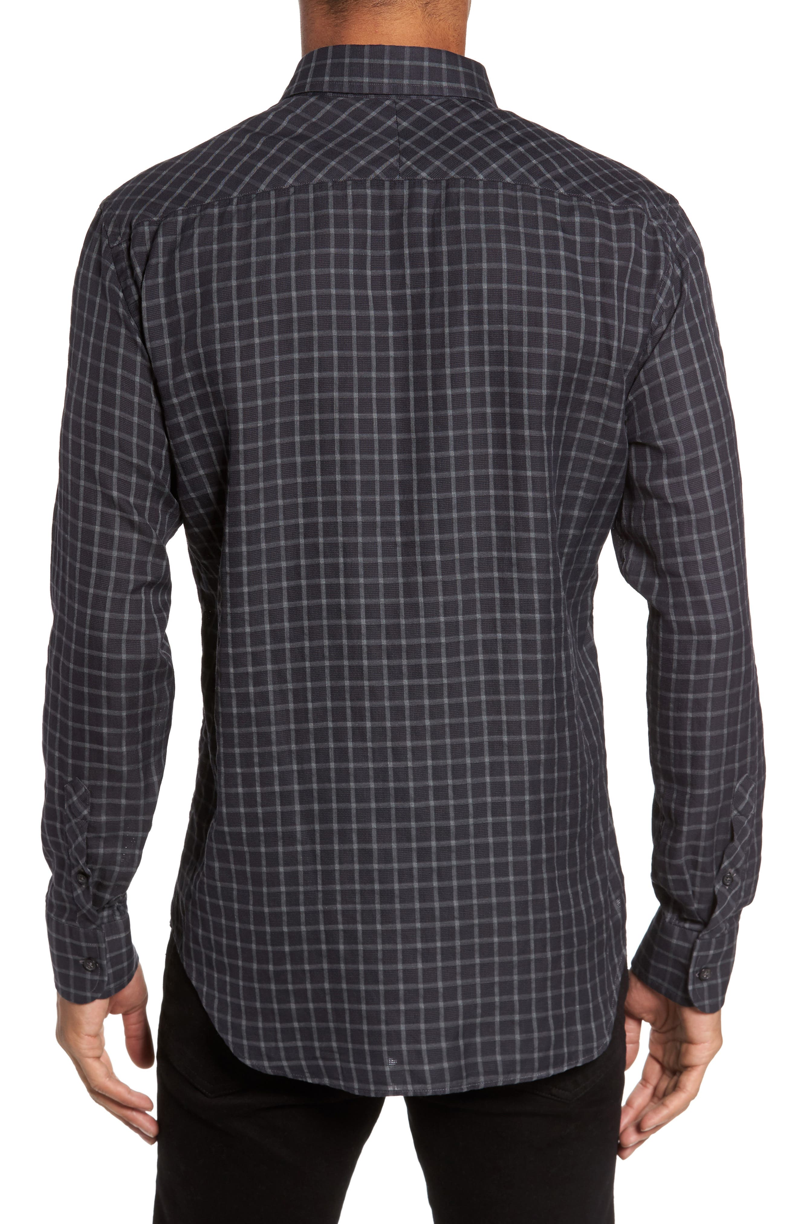 Rosedale Slim Fit Check Sport Shirt,                             Alternate thumbnail 2, color,                             412