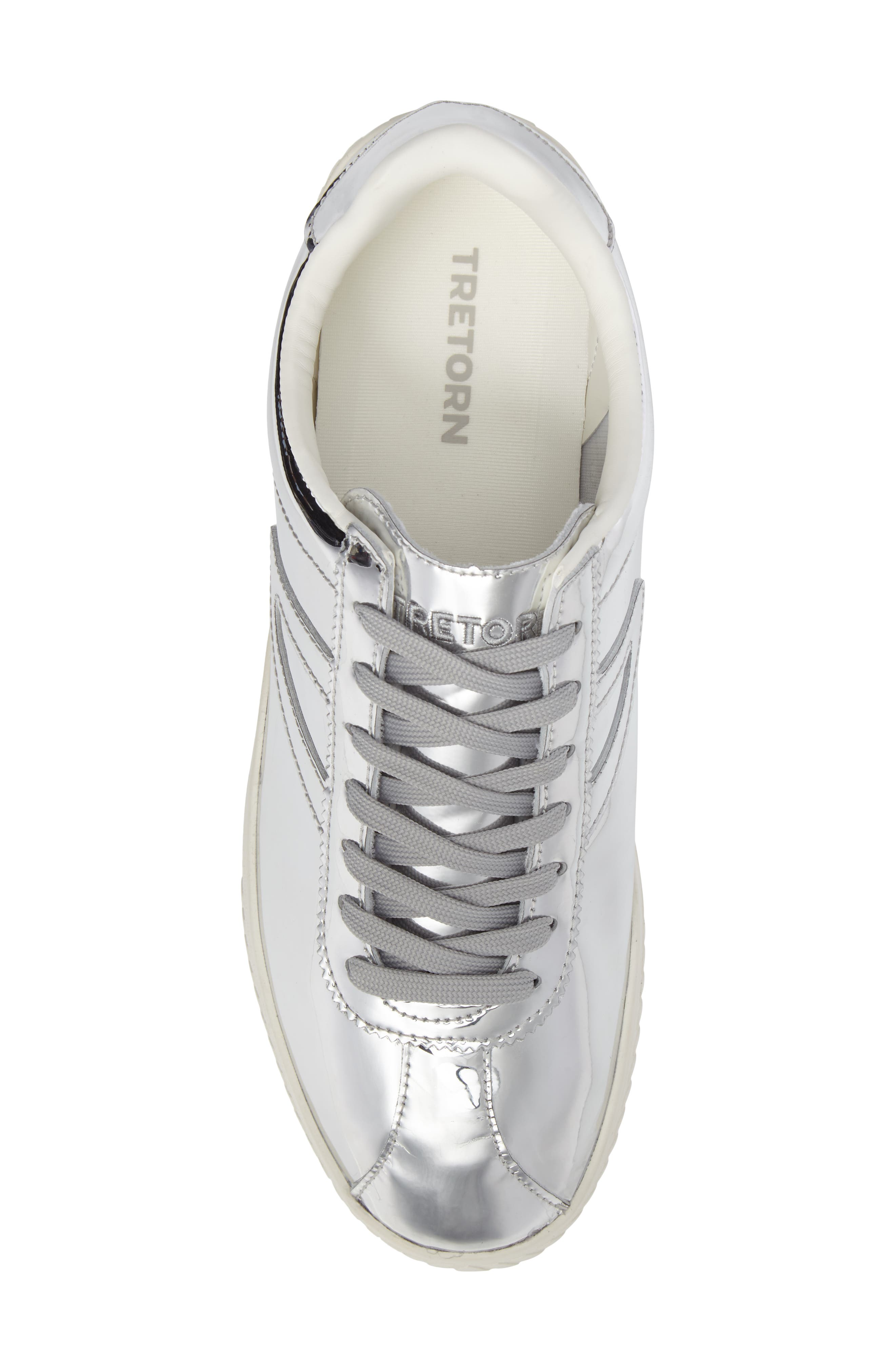 Camden 2 Sneaker,                             Alternate thumbnail 5, color,                             SILVER LEATHER