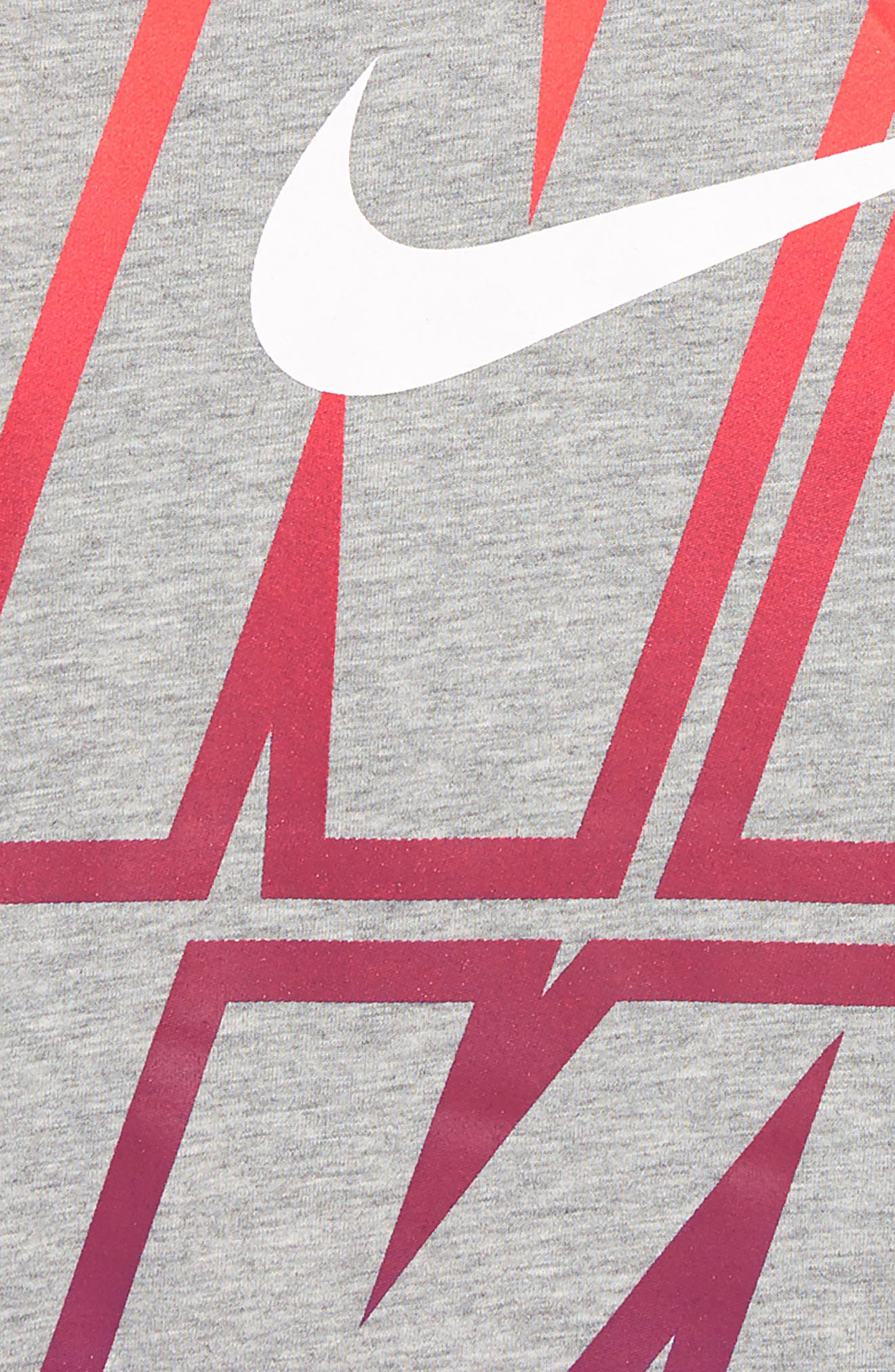 Huge Nike Graphic T-Shirt,                             Alternate thumbnail 2, color,                             DK GREY HEATHER