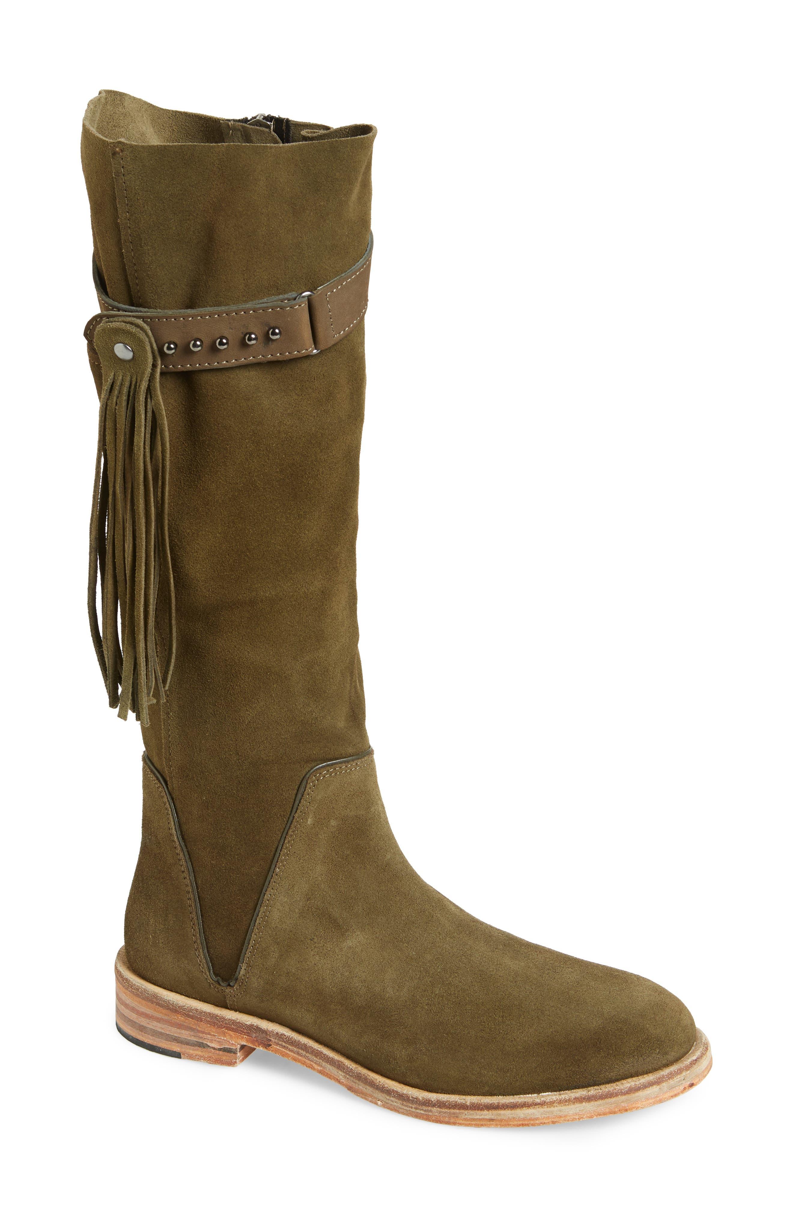 Sayre Fringe Knee High Boot, Main, color, 300