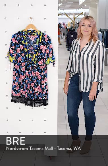 Floral Print Minidress, sales video thumbnail