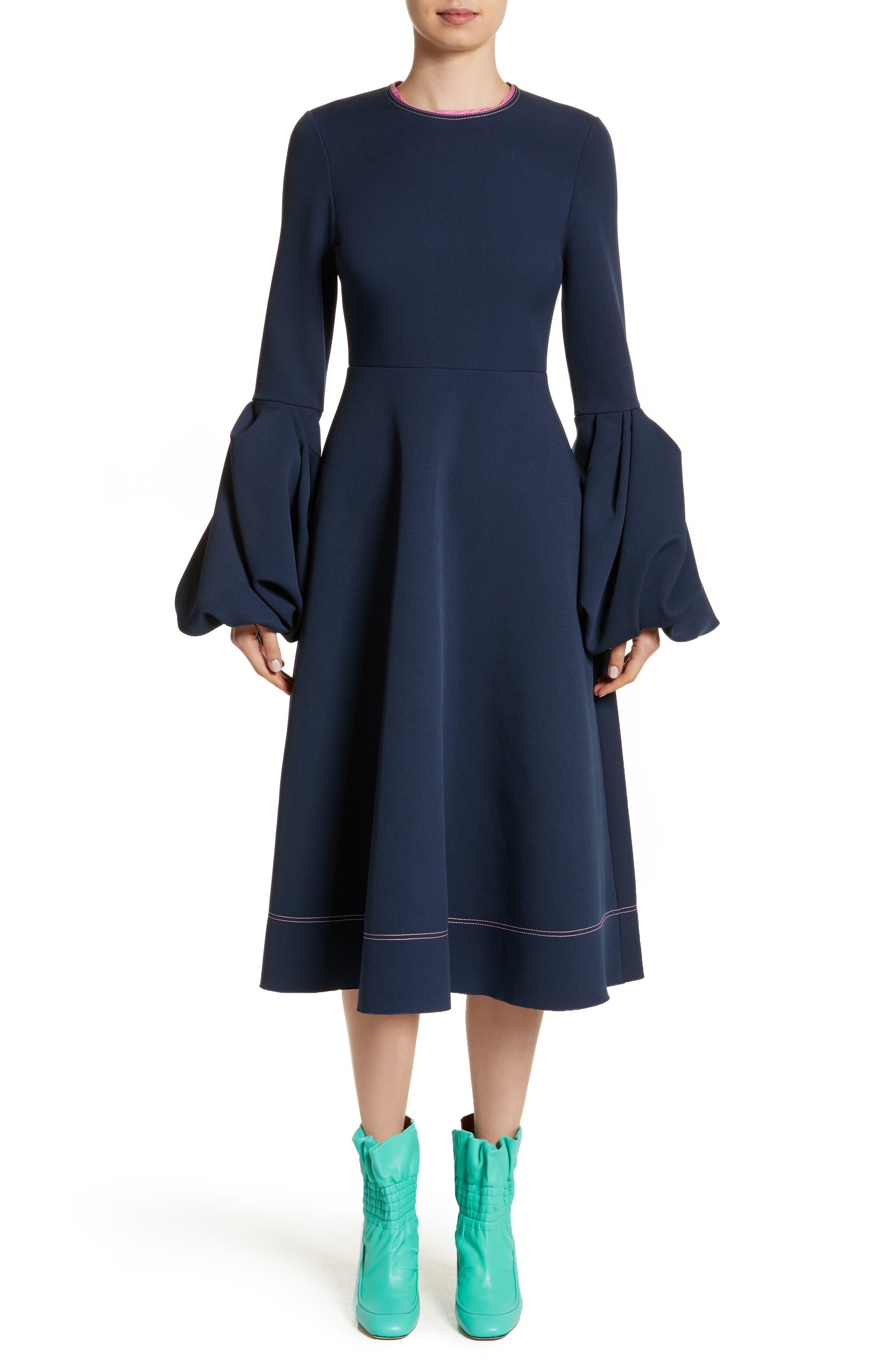 Aylin Bell Sleeve Dress,                             Alternate thumbnail 5, color,                             400