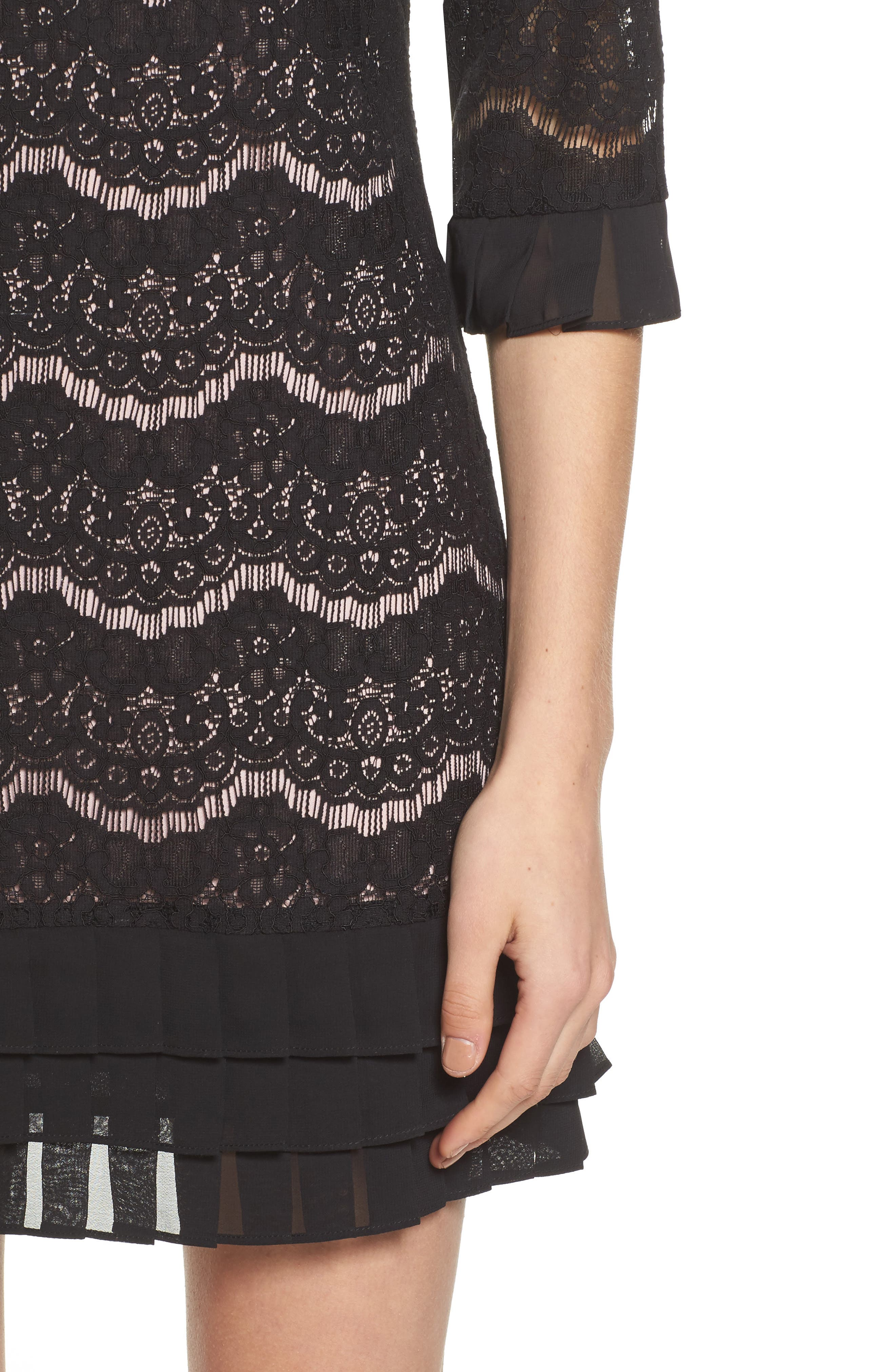 Lace Shift Dress,                             Alternate thumbnail 4, color,