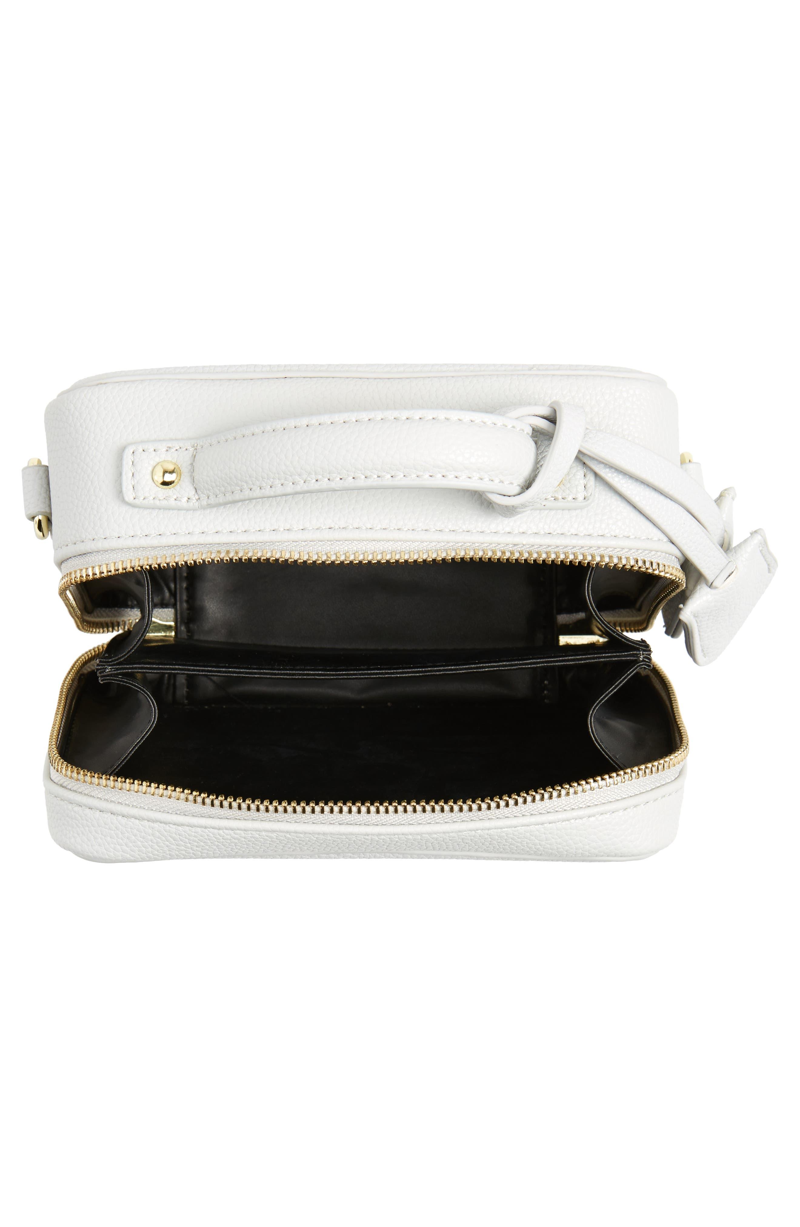 Taylor Faux Leather Crossbody Bag,                             Alternate thumbnail 4, color,
