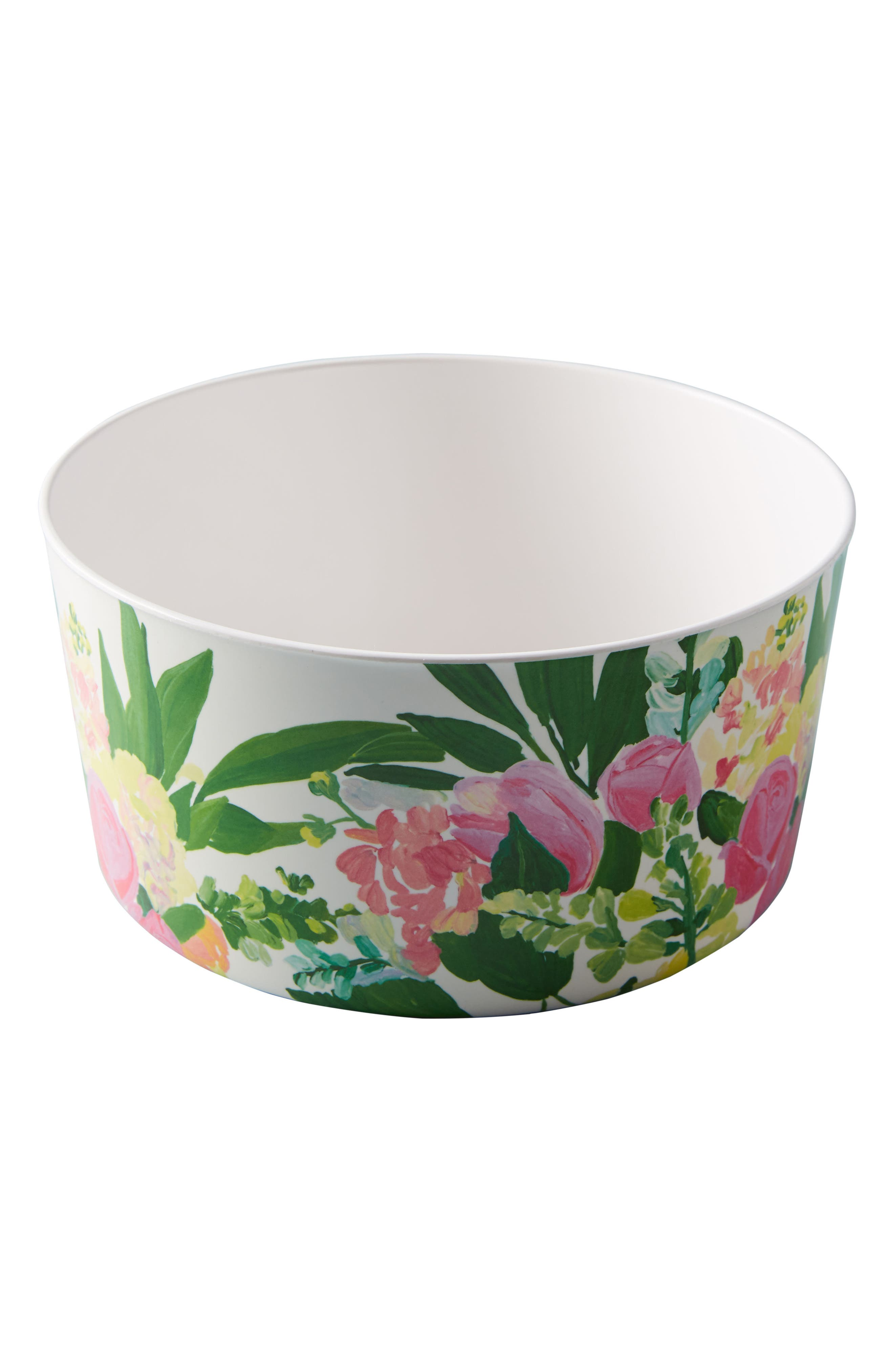 Paint + Petals Melamine Storage Bowl,                             Alternate thumbnail 3, color,                             WHITE MULTI