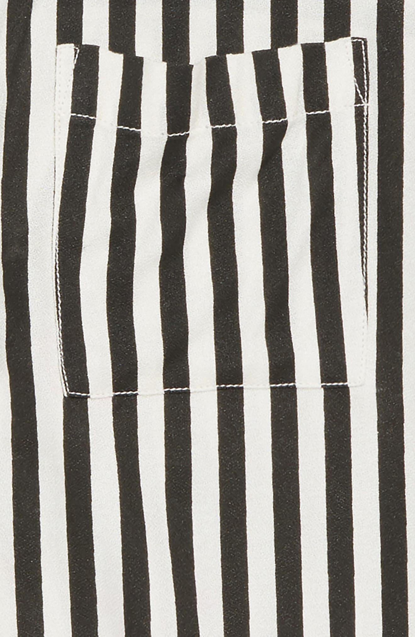 Stripe Woven Shirt,                             Alternate thumbnail 3, color,                             001