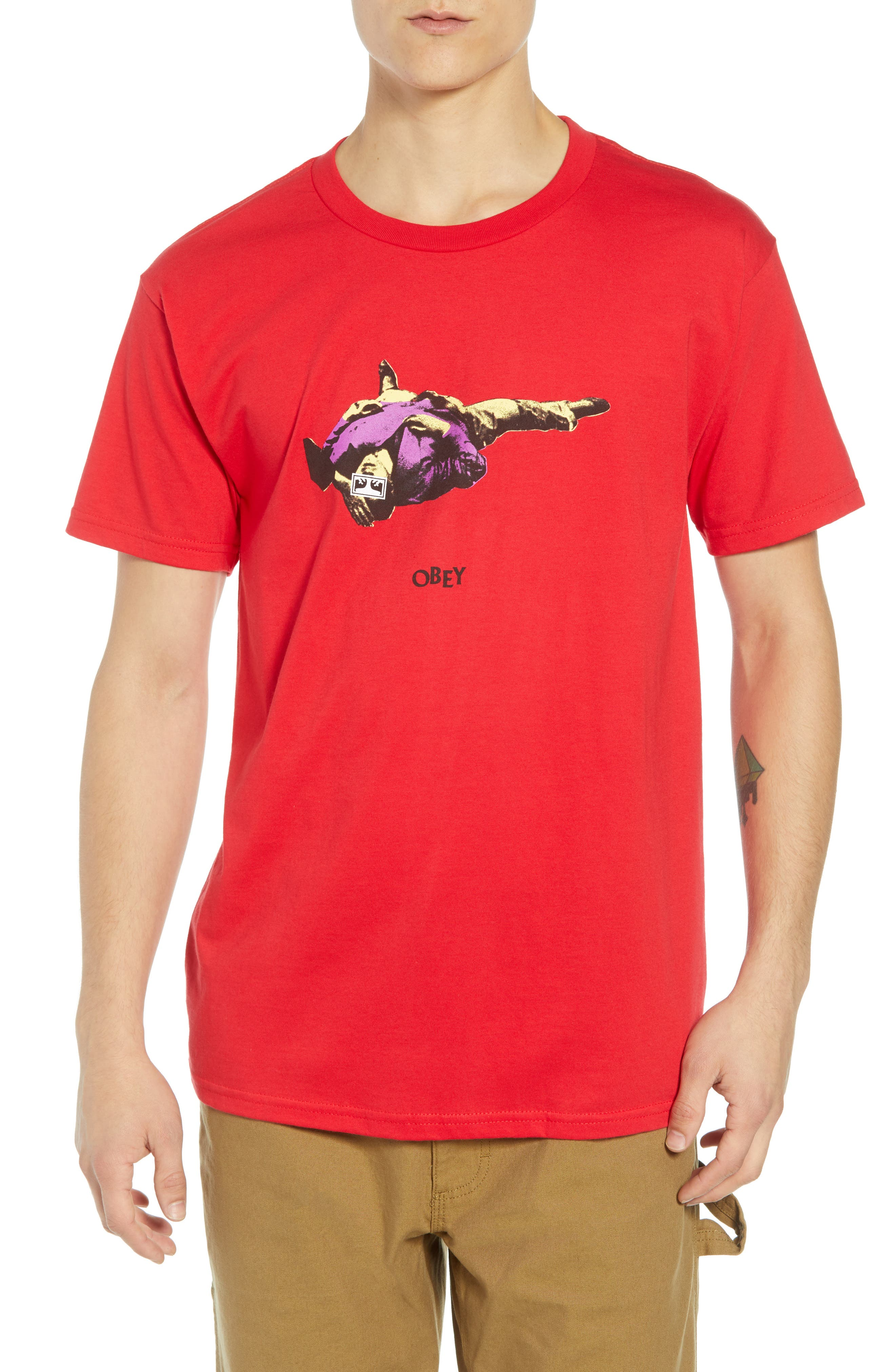 Cultural Rigor Mortis Premium T-Shirt, Main, color, RED