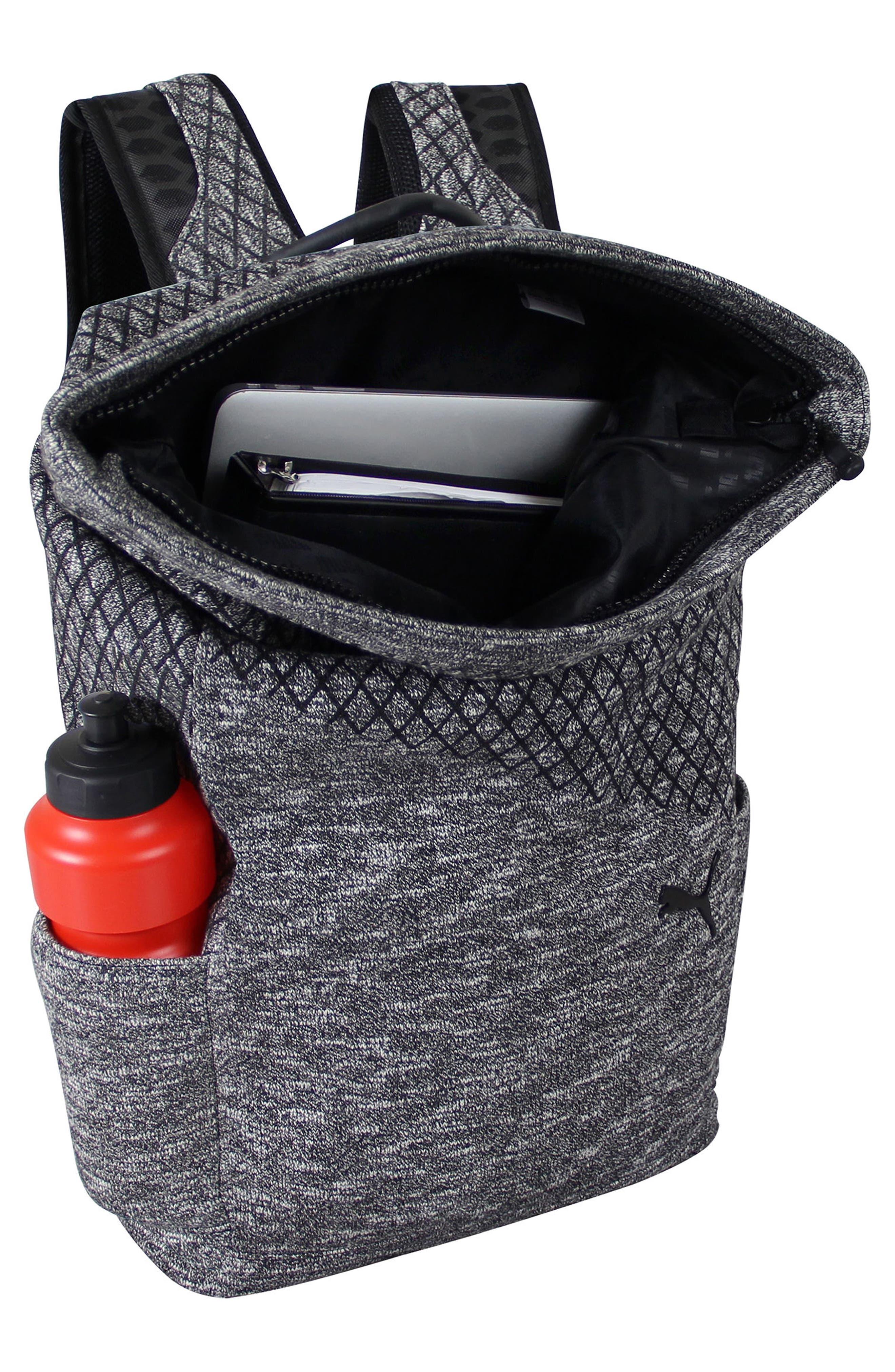 Evo 2.0 Foldover Top Knit Backpack,                             Alternate thumbnail 2, color,                             BLACK/ GREY