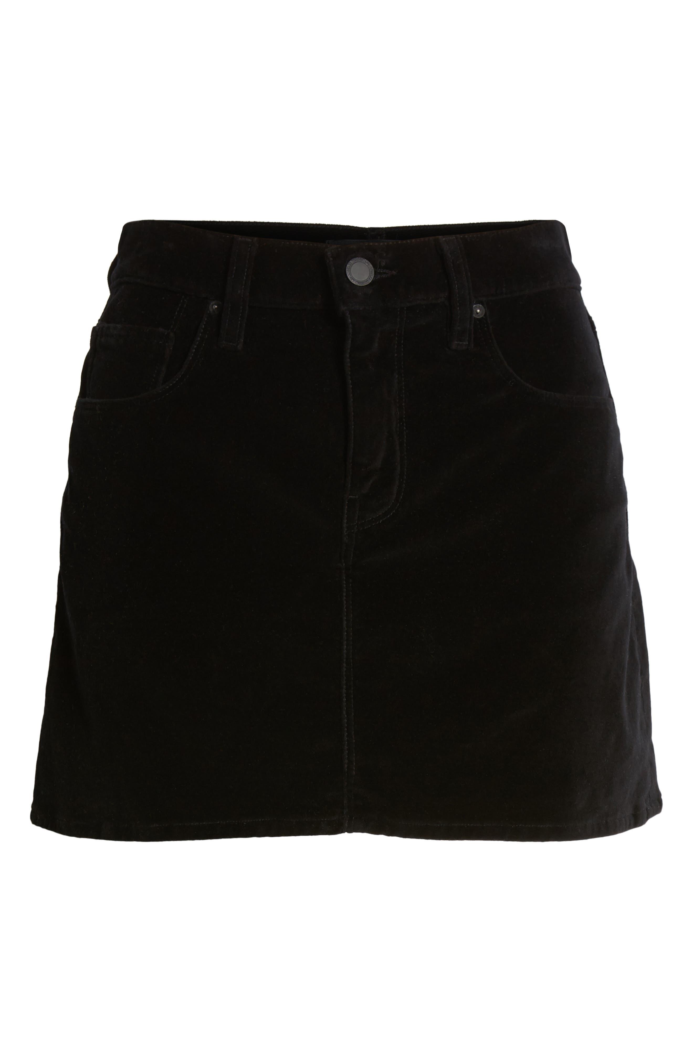 HUDSON JEANS,                             Hudson The Viper Miniskirt,                             Alternate thumbnail 6, color,                             001