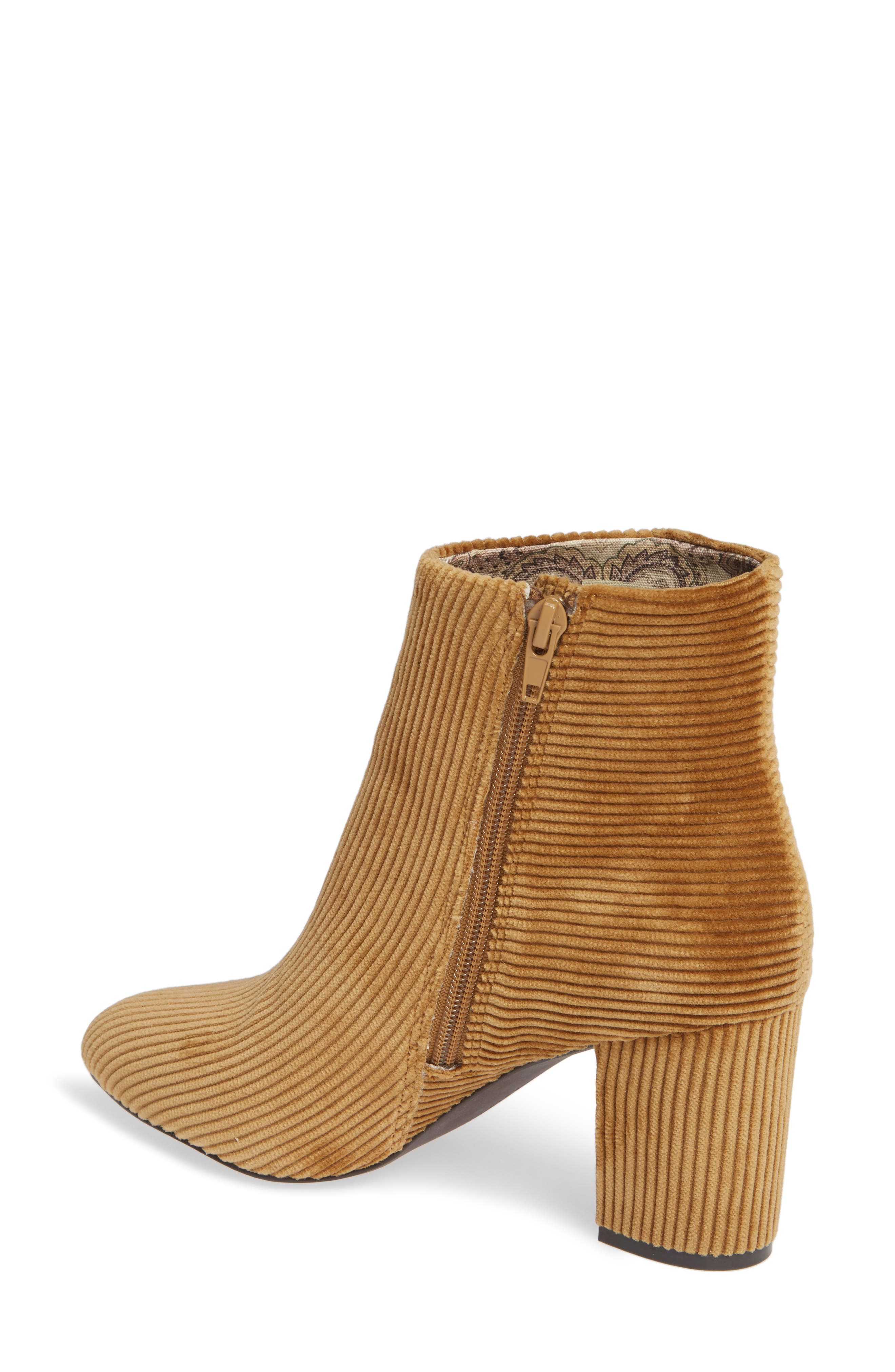 Andrea Bootie,                             Alternate thumbnail 2, color,                             TAN CORDUROY