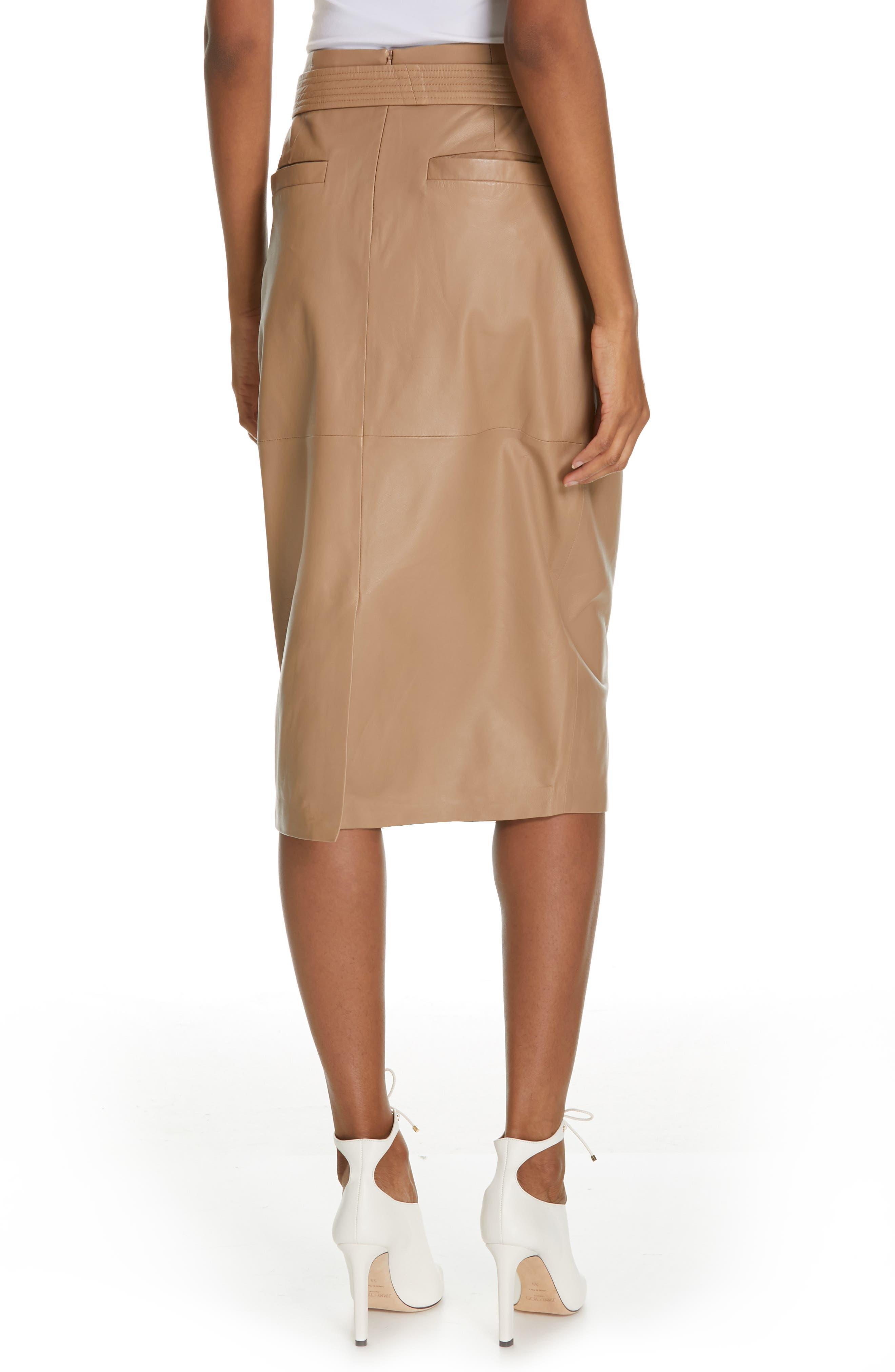 Alouetta Leather Skirt,                             Alternate thumbnail 2, color,                             BOIS