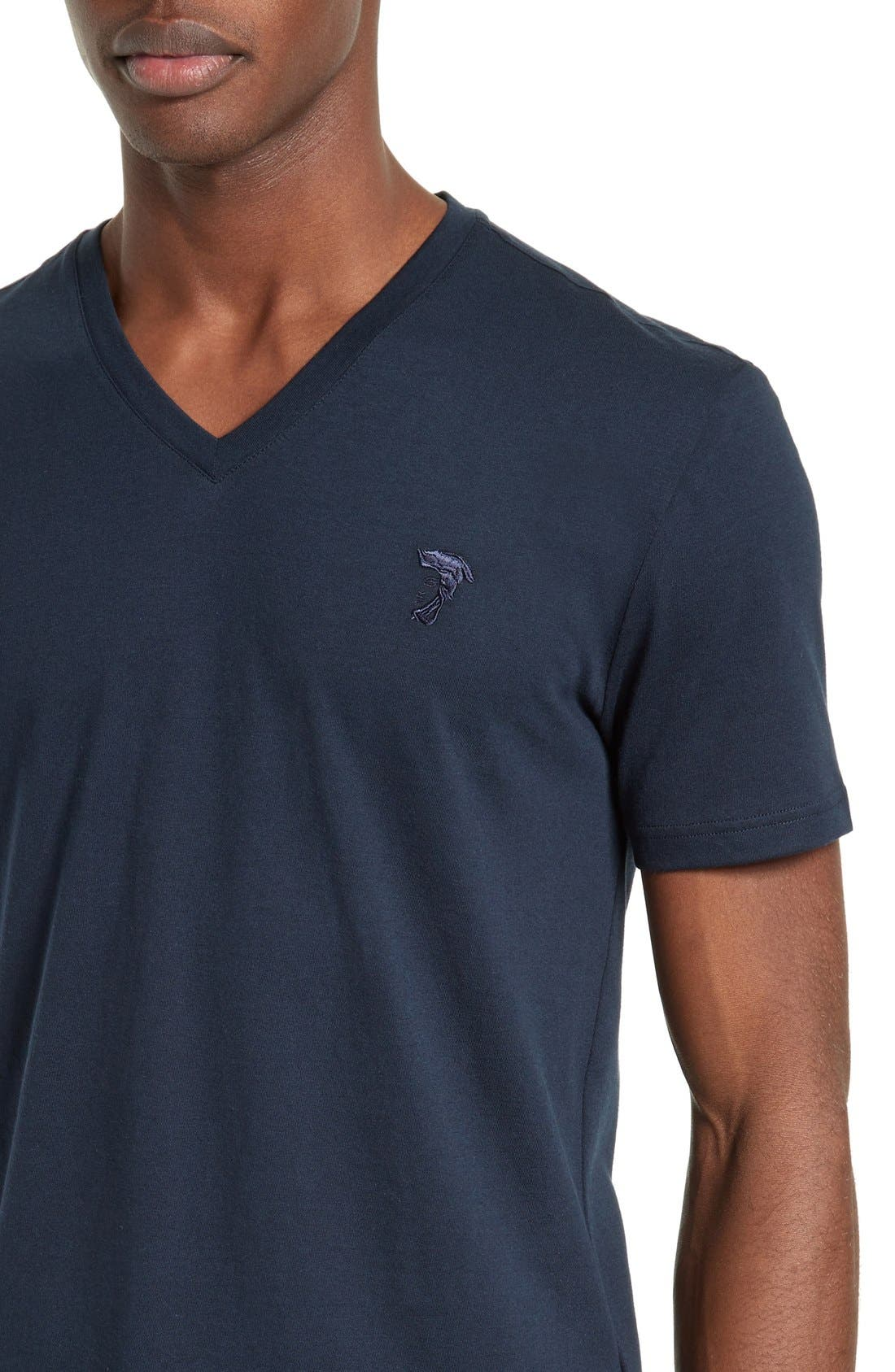 Medusa V-Neck T-Shirt,                             Alternate thumbnail 3, color,                             410