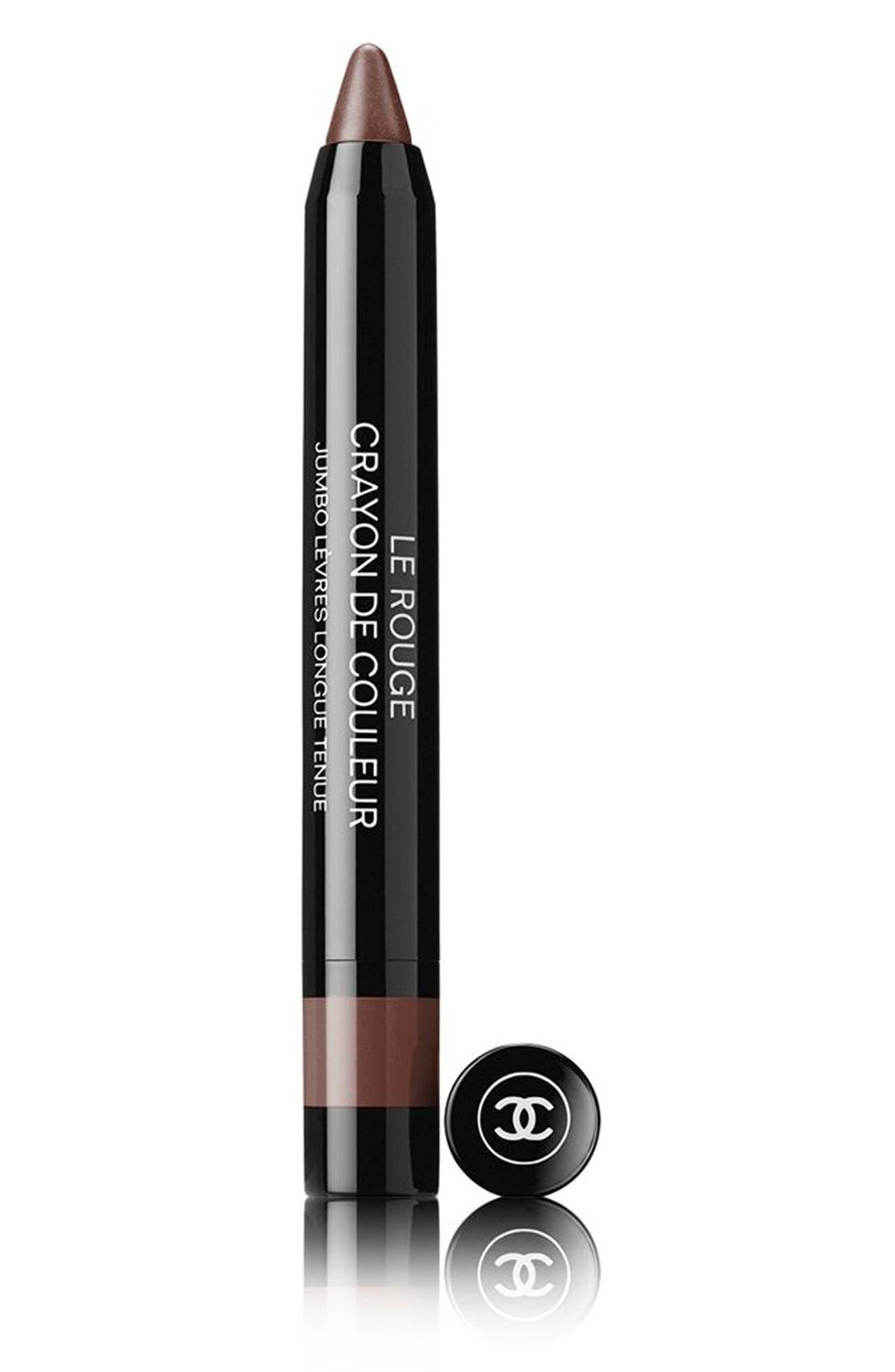 LE ROUGE CRAYON DE COULEUR Jumbo Longwear Lip Crayon,                         Main,                         color, 22 NATURAL BROWN