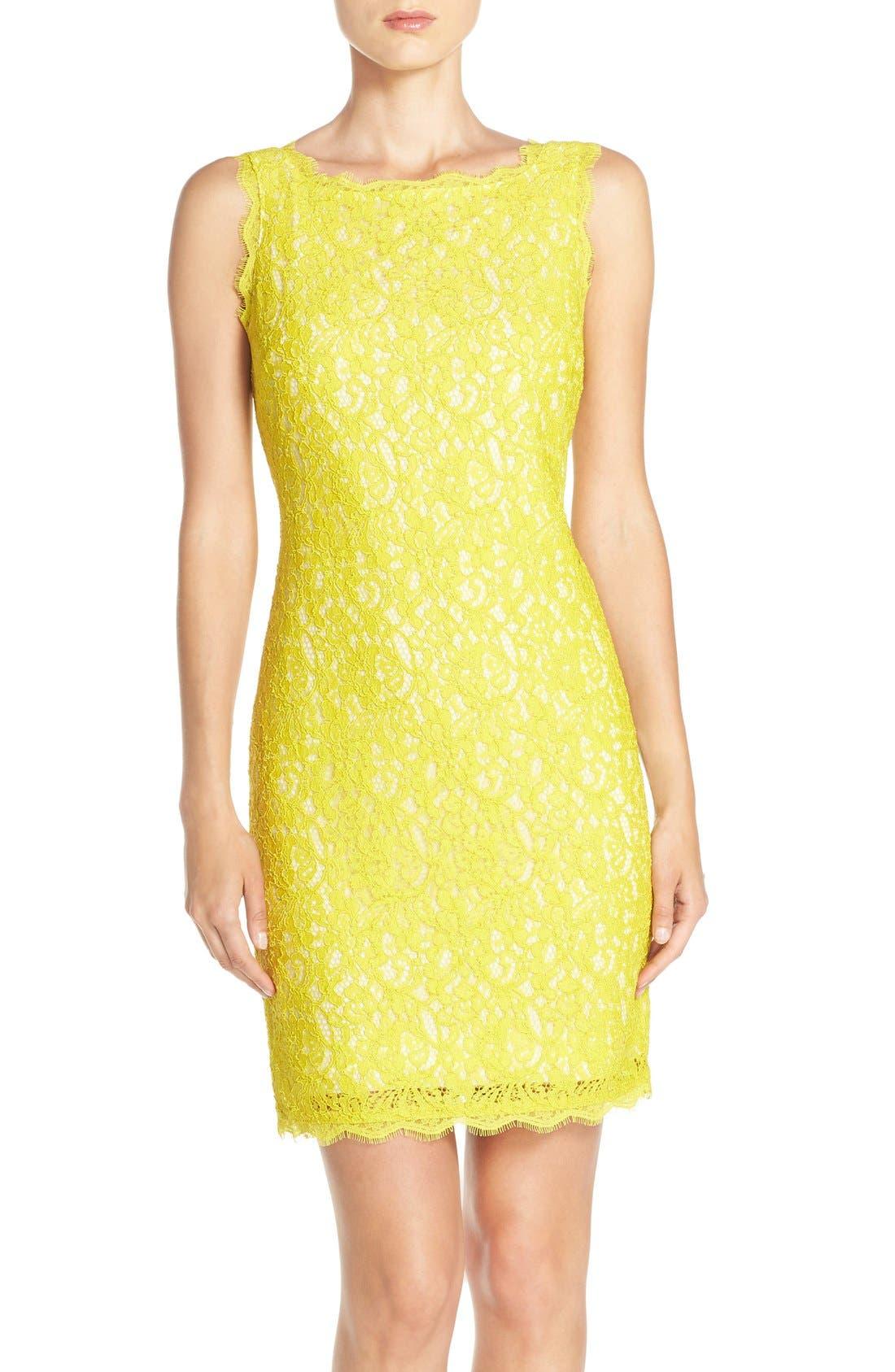 Boatneck Lace Sheath Dress,                             Main thumbnail 30, color,