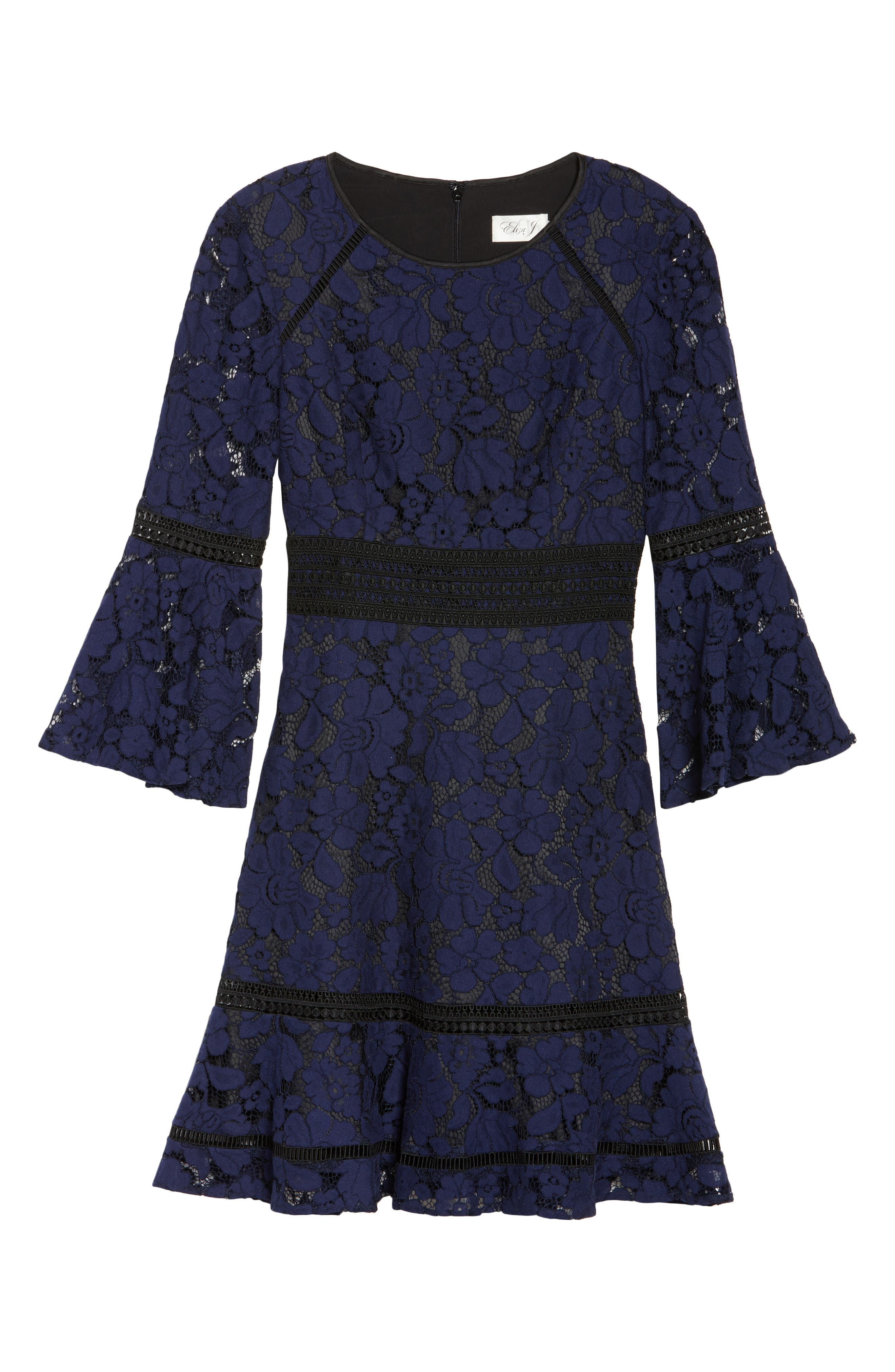 Bell Sleeve Lace Dress,                             Alternate thumbnail 6, color,