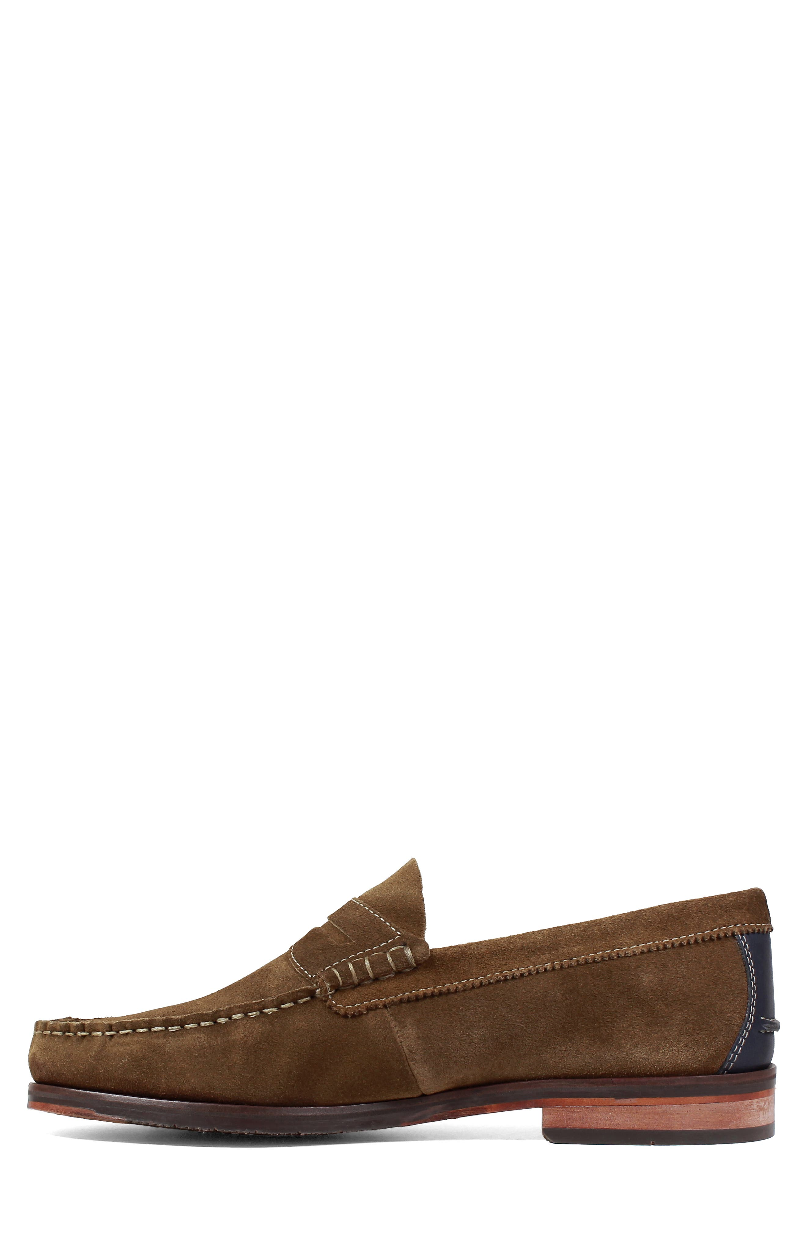 Heads-Up Penny Loafer,                             Alternate thumbnail 8, color,                             SNUFF SUEDE