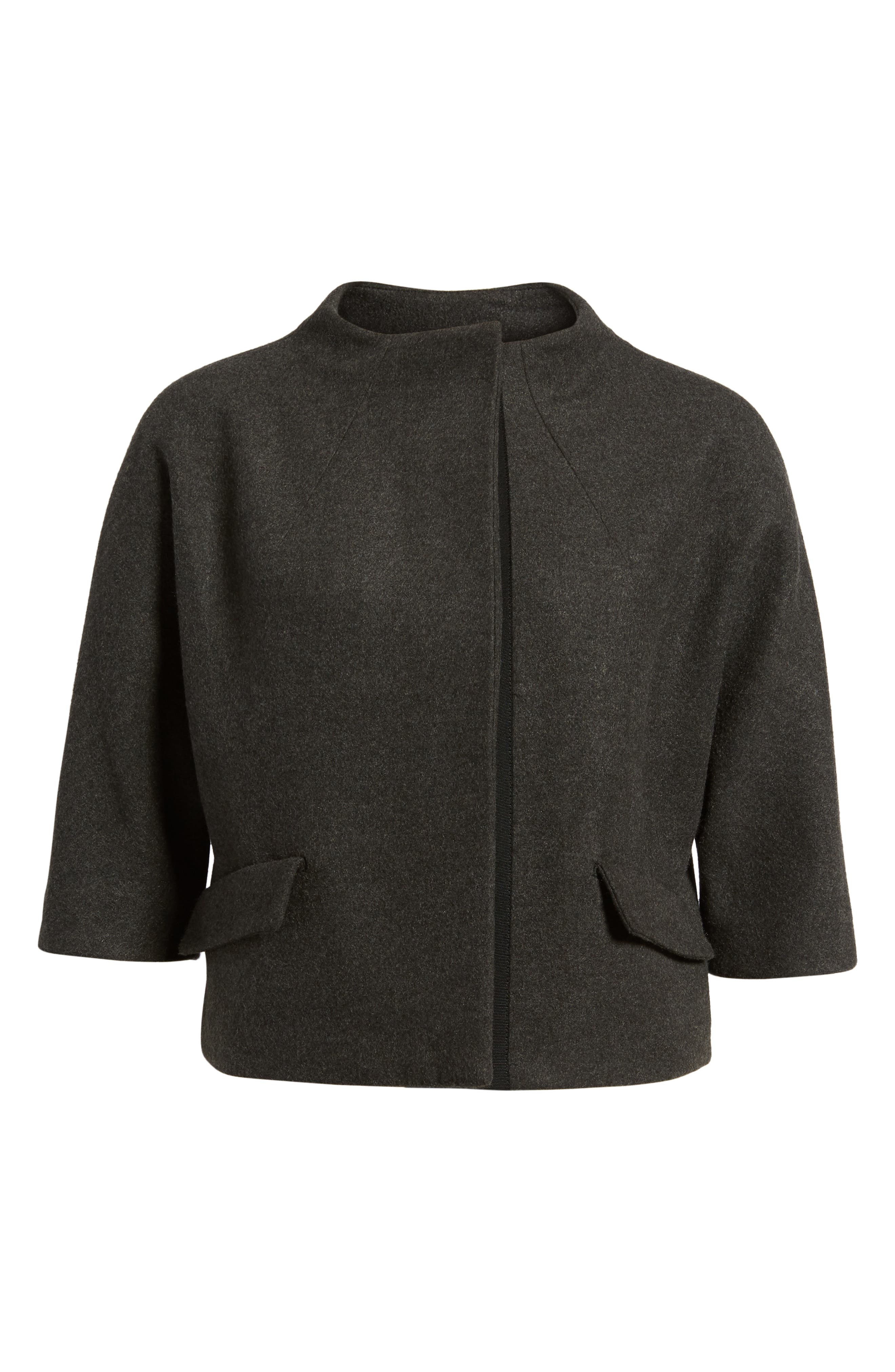 Funnel Neck Cropped Jacket,                             Alternate thumbnail 5, color,                             050