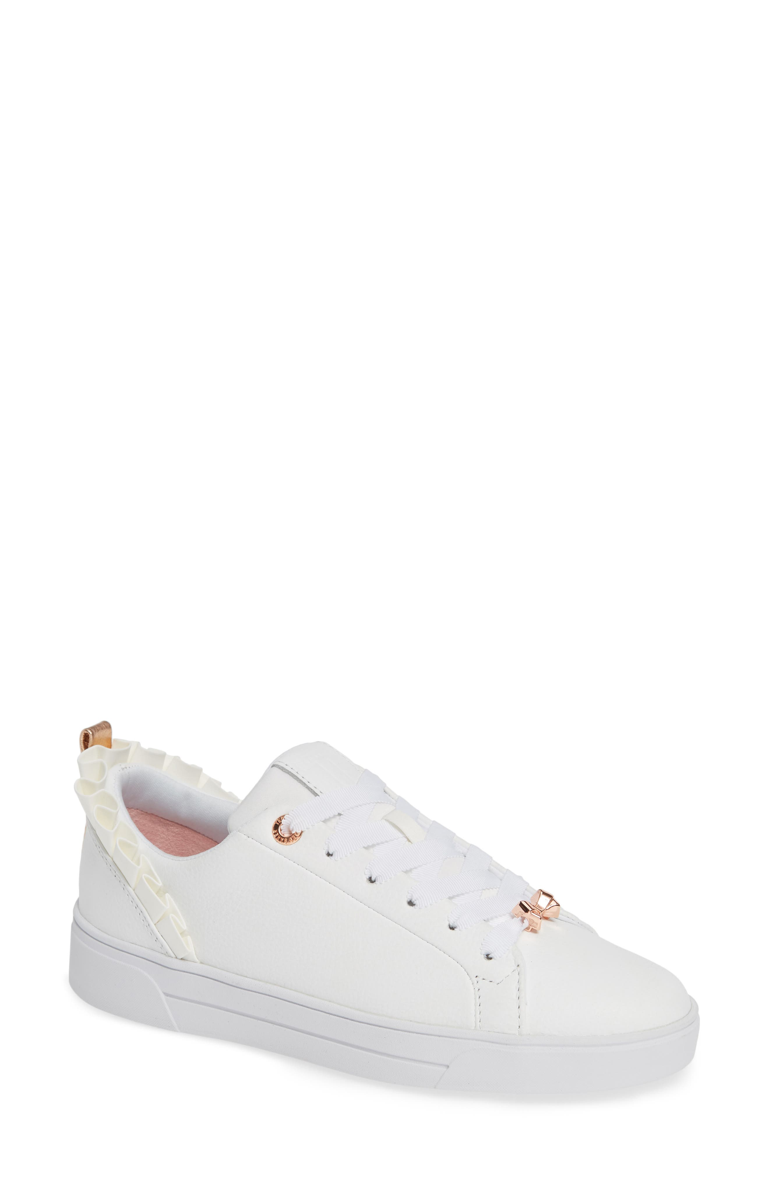 Astrina Sneaker,                         Main,                         color, WHITE LEATHER