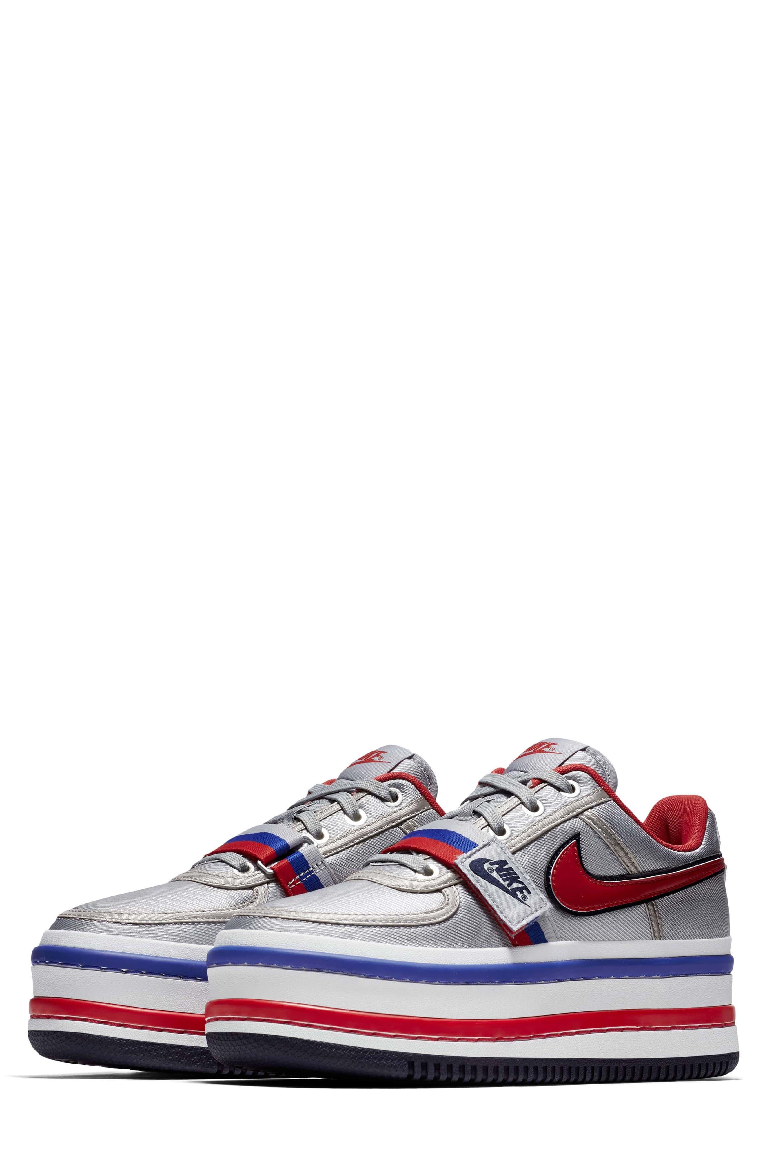 Vandal 2K Sneaker,                             Main thumbnail 1, color,                             SILVER/ UNIVERSITY RED