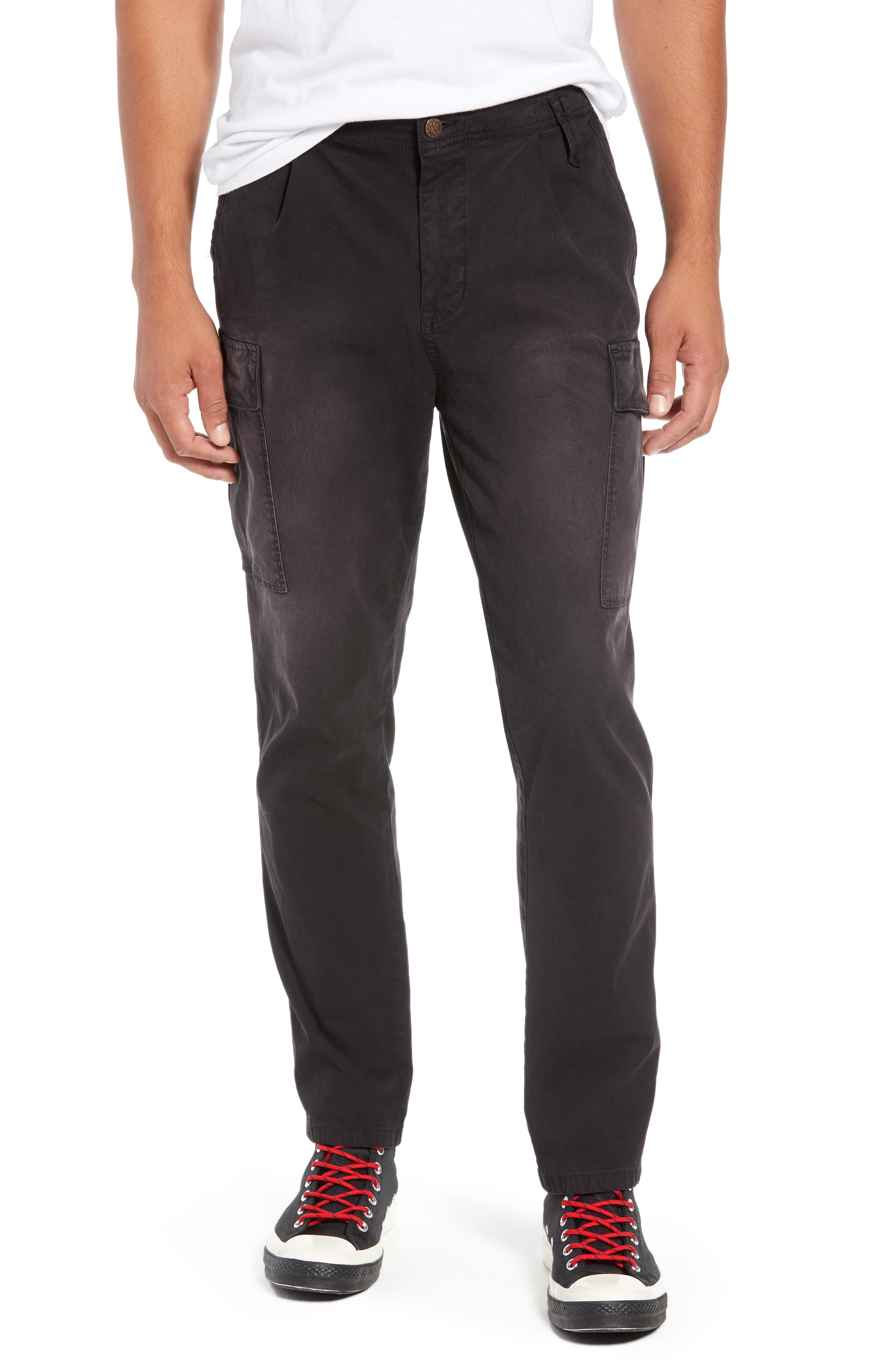 Scotch & Soda Loose Taper Fit Washed Cargo Pants, Grey