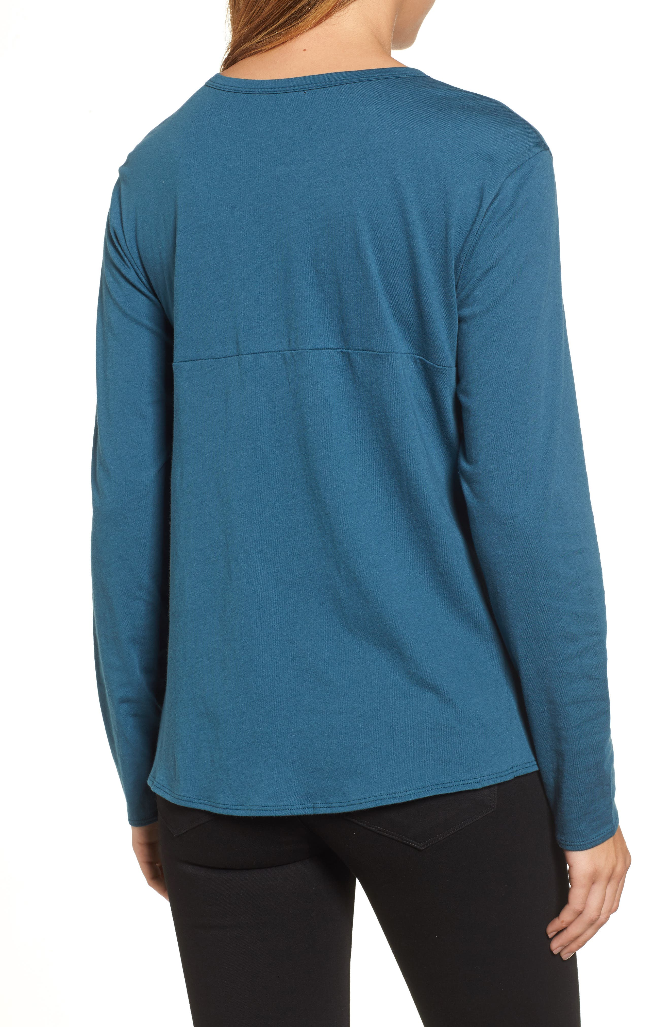 Long Sleeve Side Tie Tee,                             Alternate thumbnail 11, color,