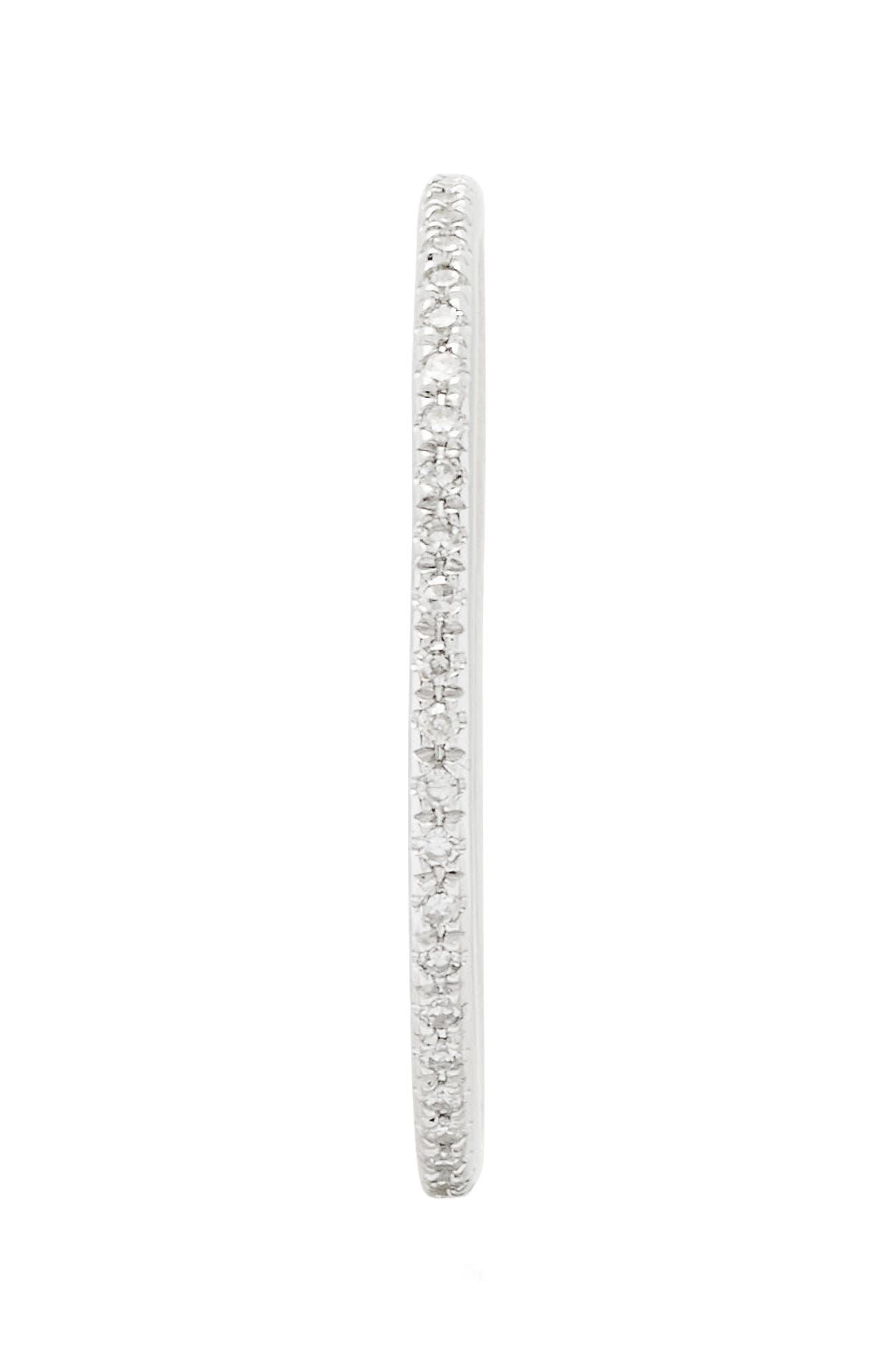 Two-Tone Diamond Stack Ring,                             Alternate thumbnail 3, color,                             WHITE GOLD