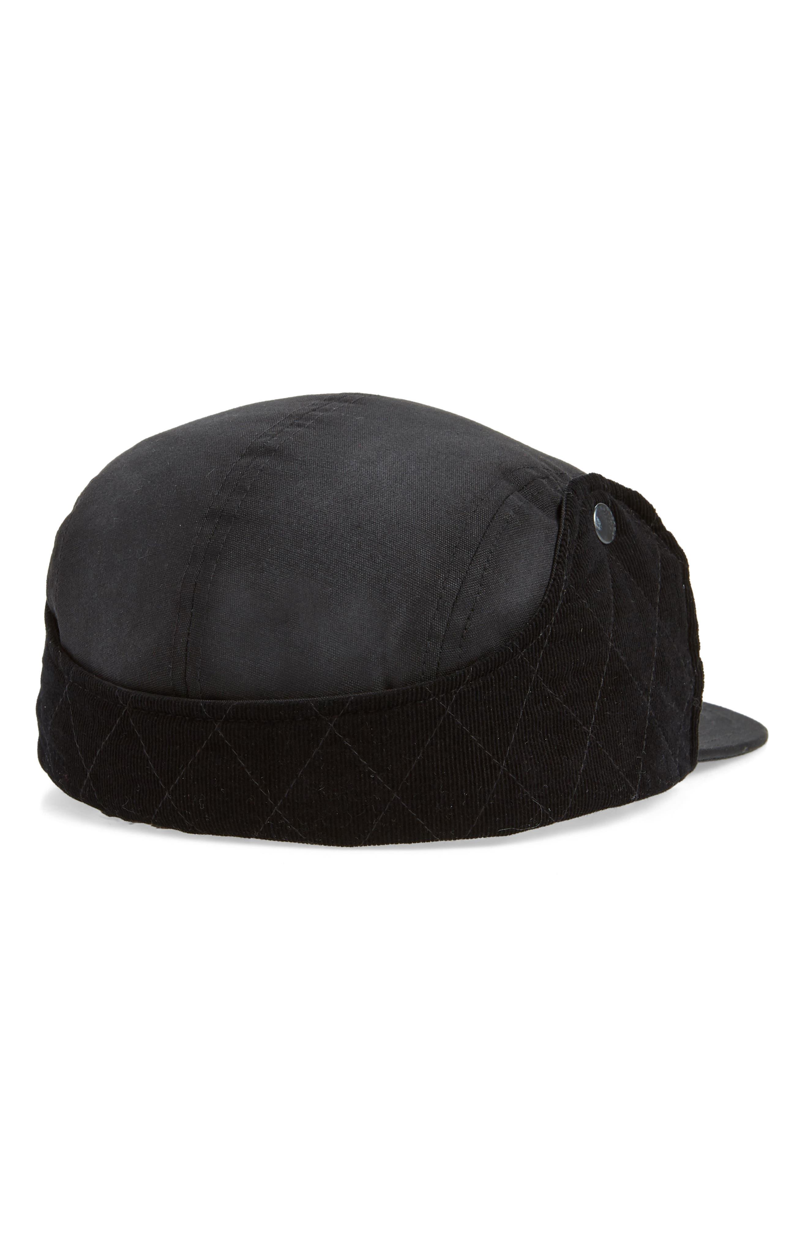 Snap Flap Camper Hat,                             Alternate thumbnail 2, color,                             BLACK