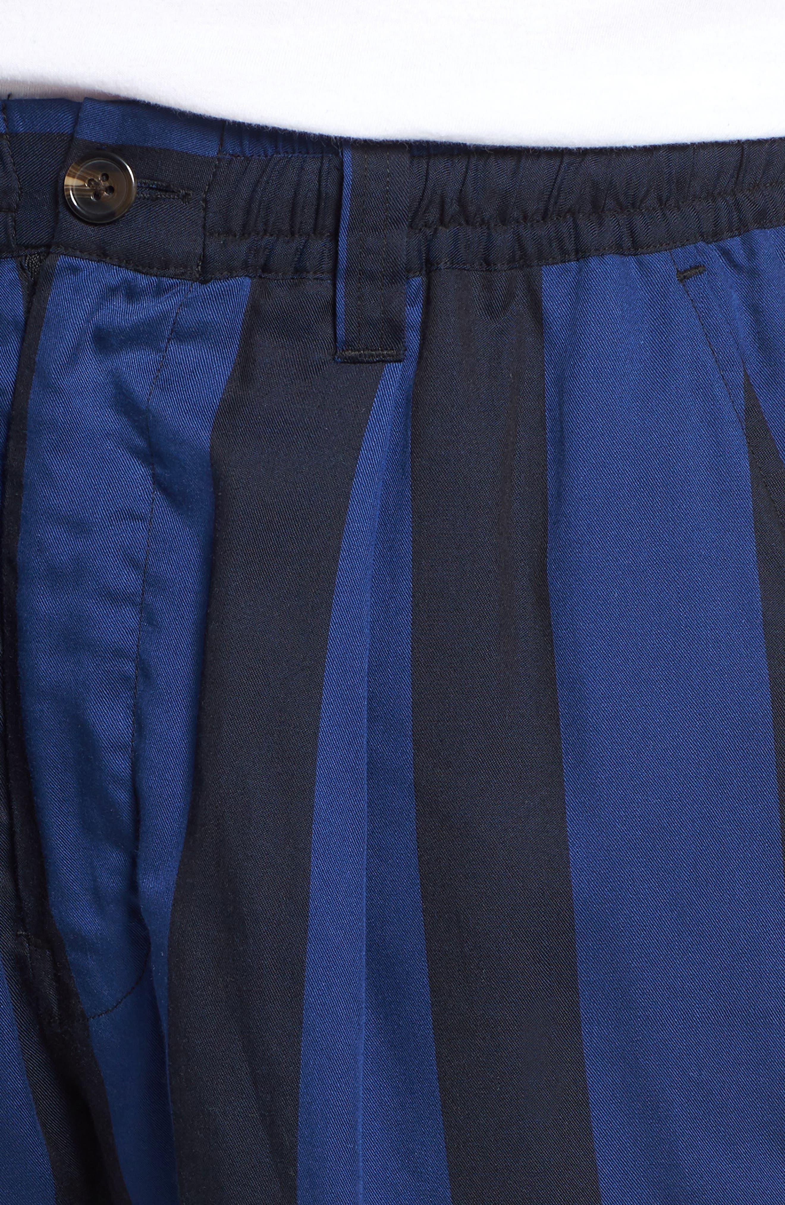 Keigo Broad Stripe Shorts,                             Alternate thumbnail 4, color,                             COBALT