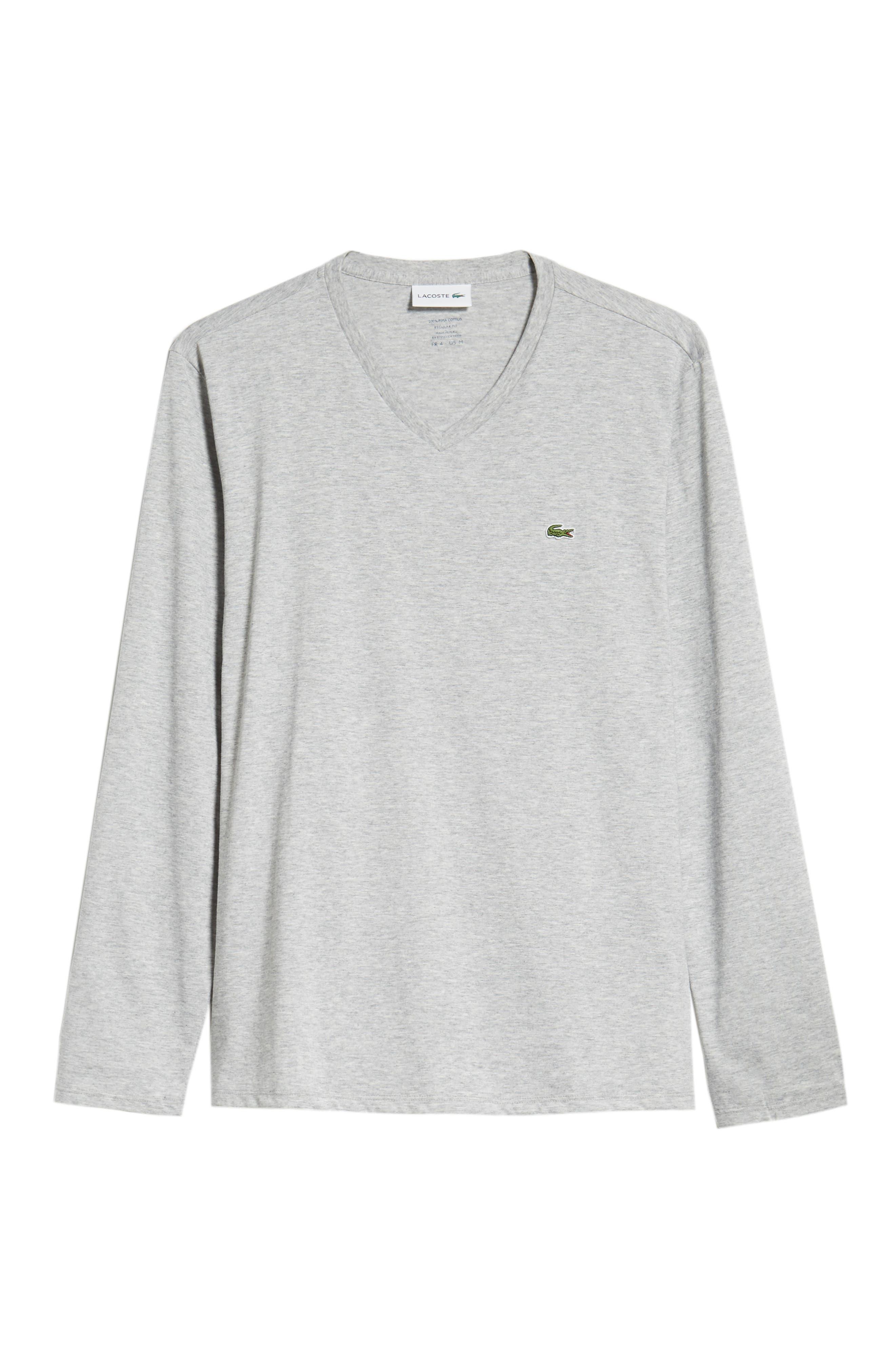 Long Sleeve T-Shirt,                             Alternate thumbnail 6, color,                             SILVER CHINE