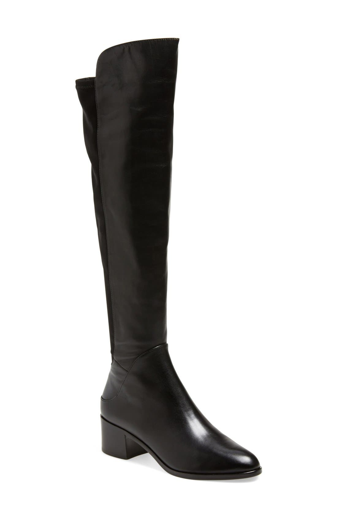 'Alto' Over the Knee Boot,                             Main thumbnail 1, color,                             001