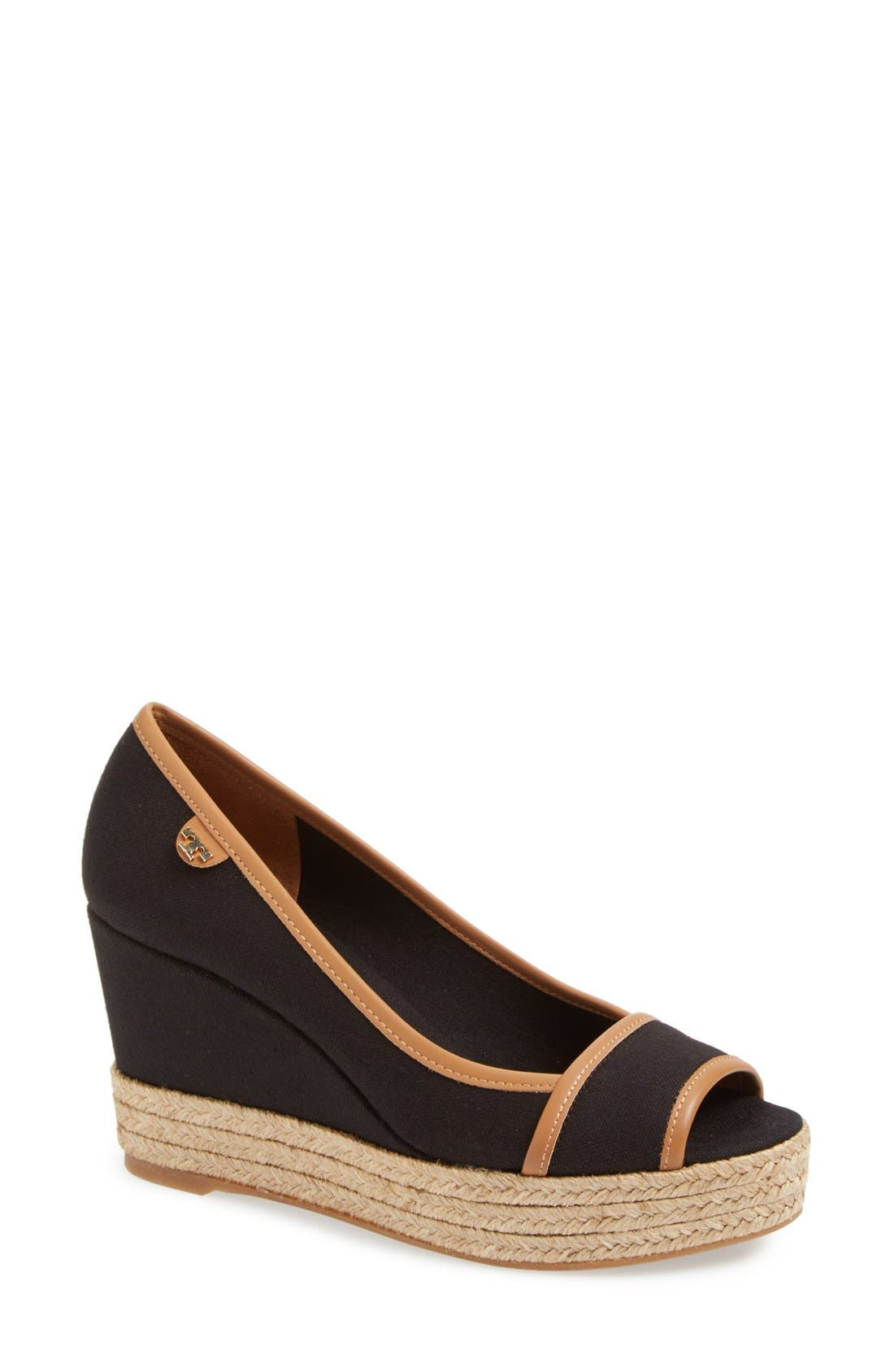 TORY BURCH 'Majorca' Wedge Sandal, Main, color, 013